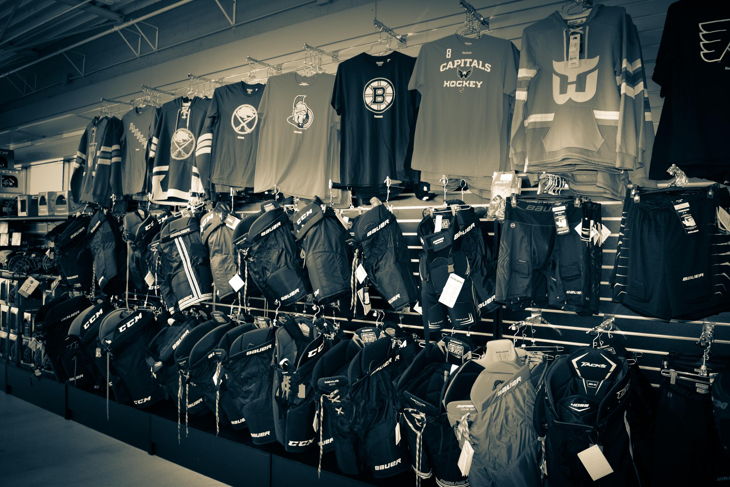 NHL Shirts & Pants Wall