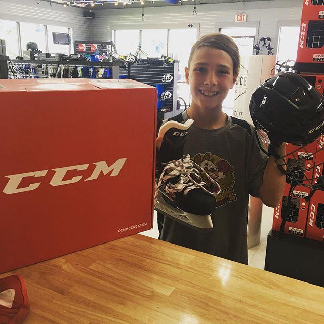 Gettin camp ready today  New CCM Skates and helmet  #cornelluniversity #cornellhockey #cornellhockeycamp #thehockeyshopny #ccm #nhl