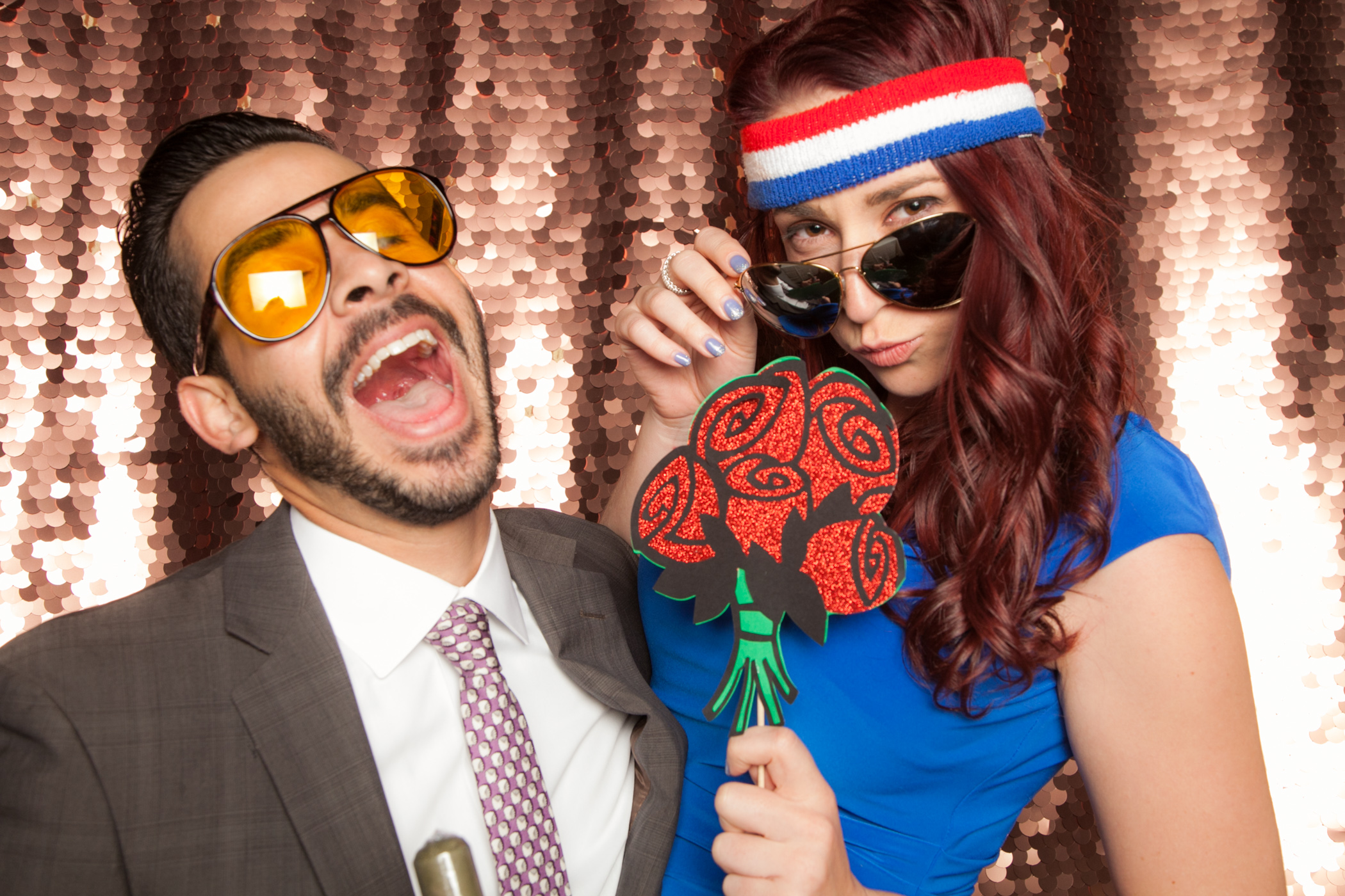 rose gold backdrop photo booth