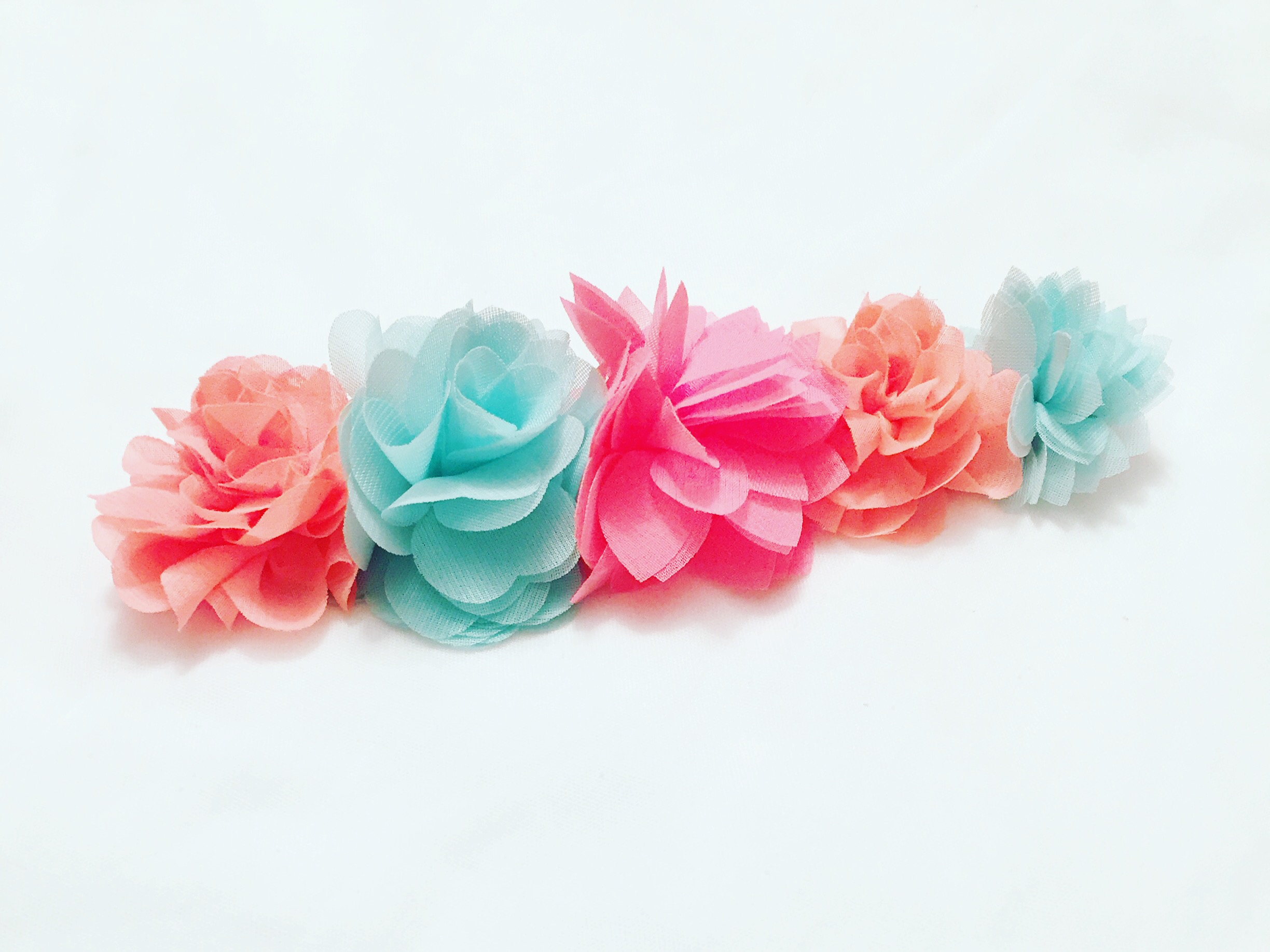 Baby is ready for Coachella with this flower headband. #flowercrown