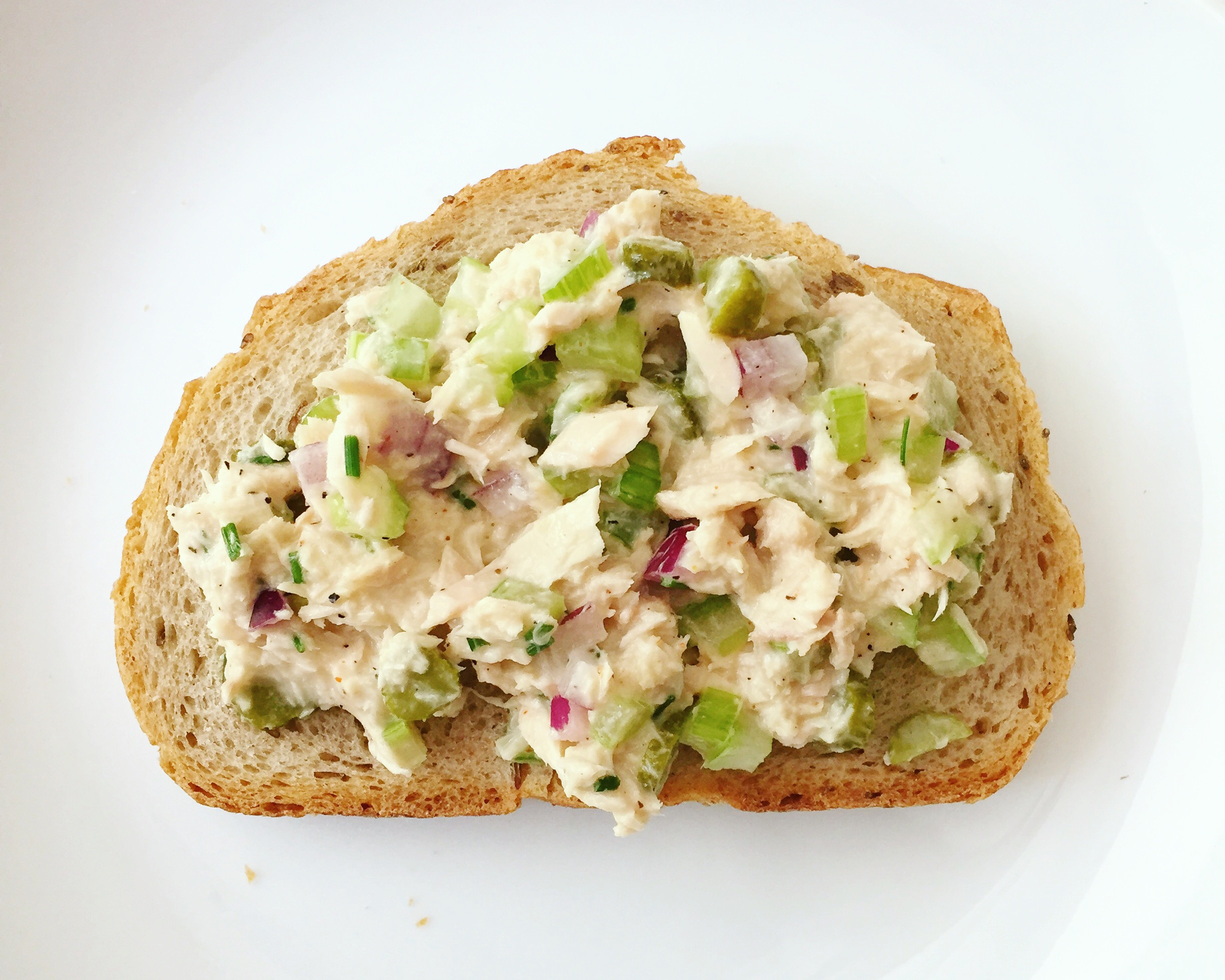 Tuna salad on organic Jewish rye from Whole Foods.