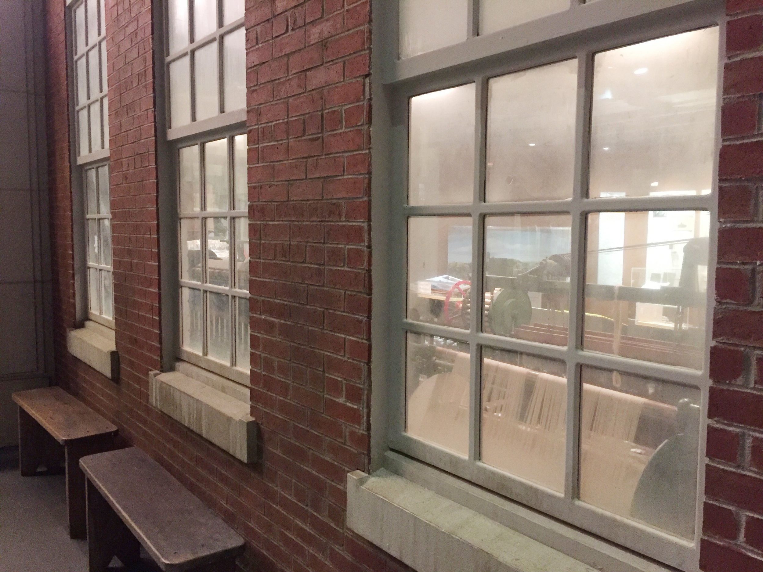 Cotton Mill, a view from the window.  Levine Museum of the New South