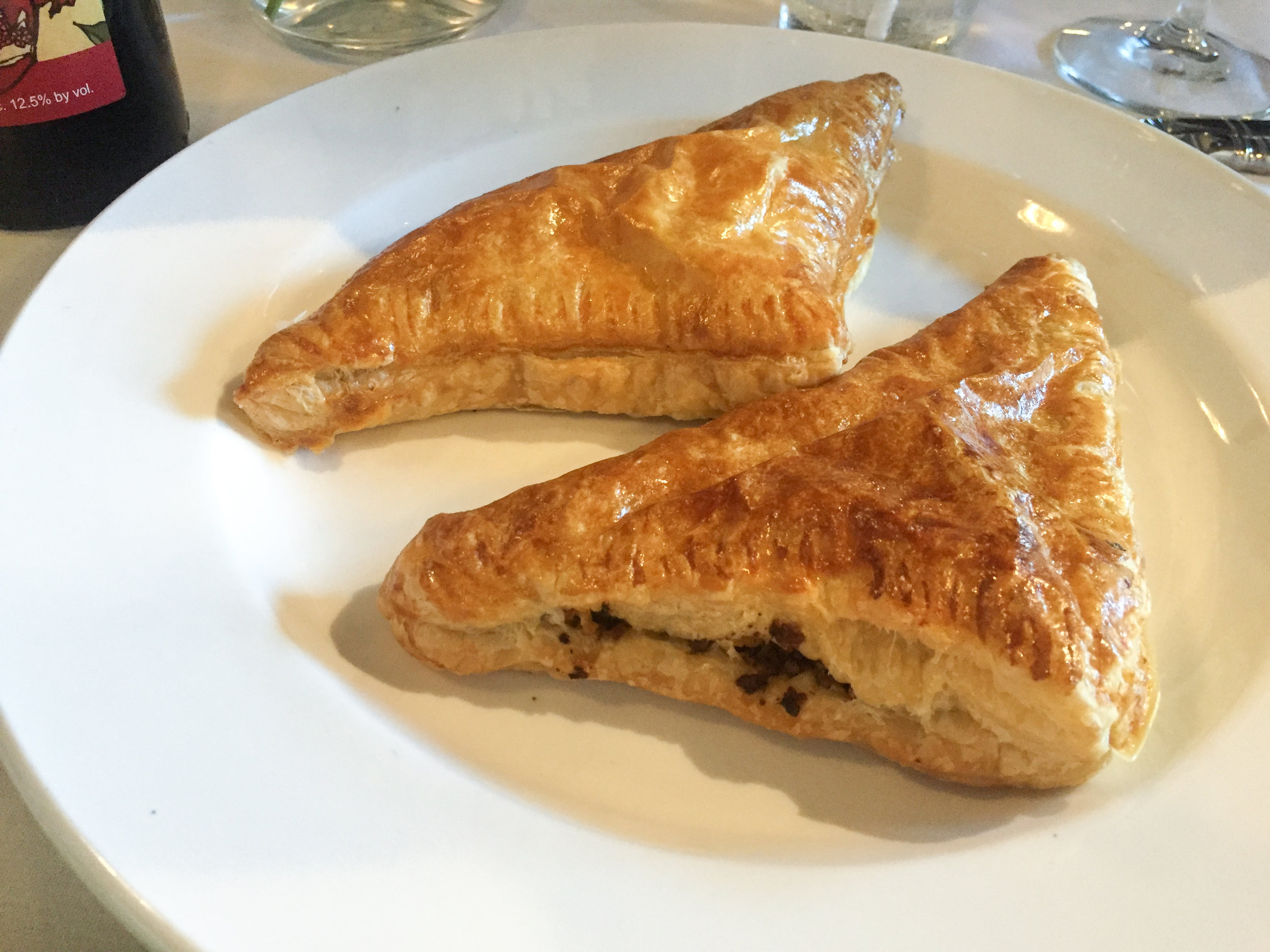 Meat Pie | Stuffed with ground beef.