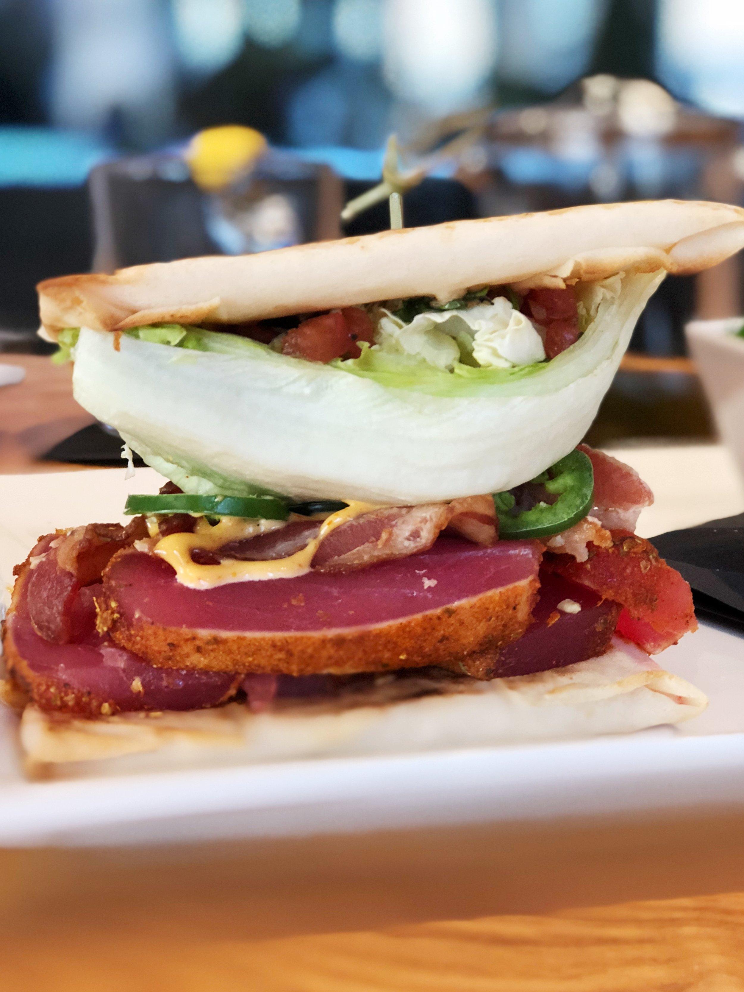 cowfish-charlotte-whats-shakin-tuna-bacon-burgushi