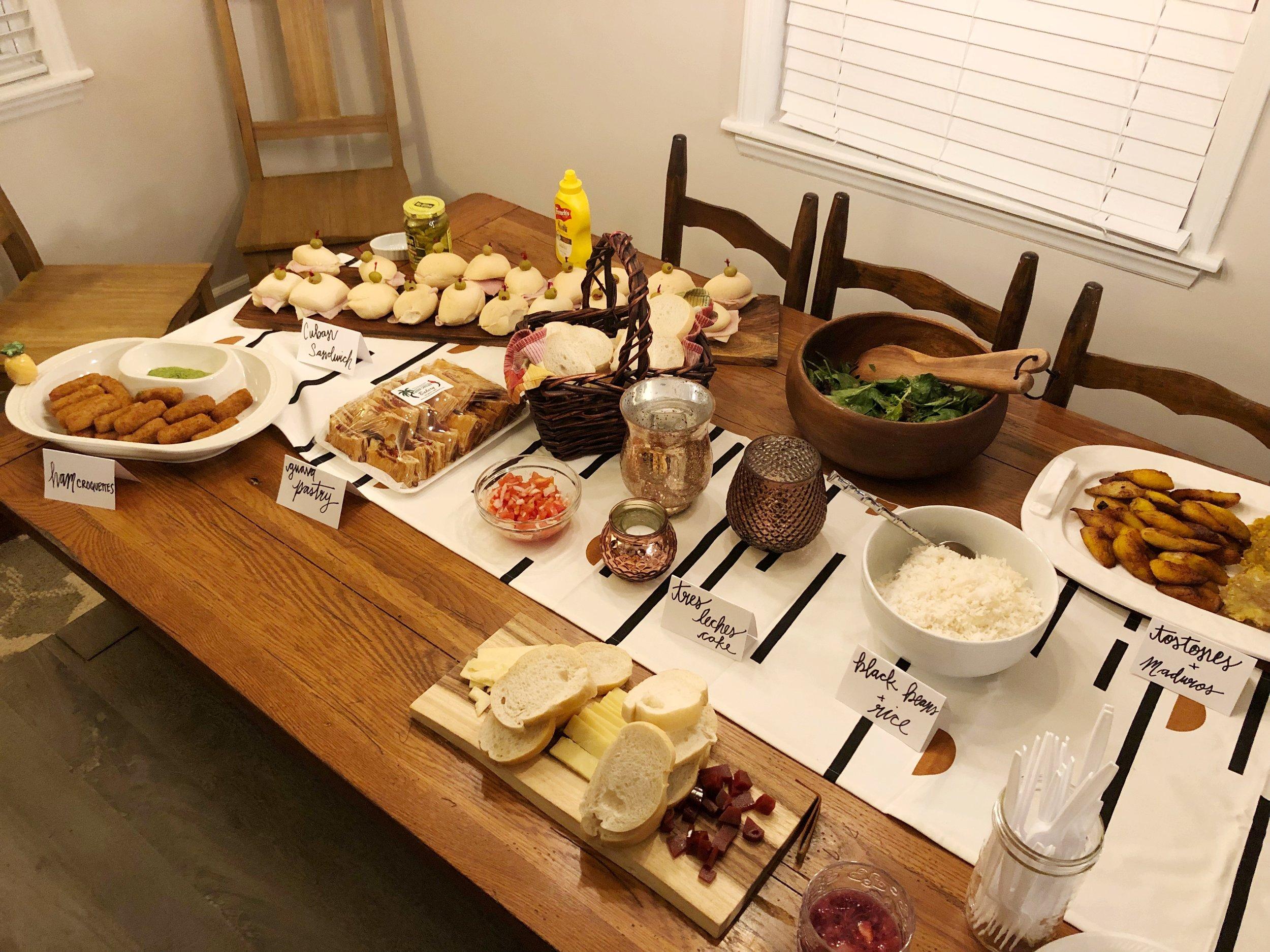 cuban-birthday-dinner-spread