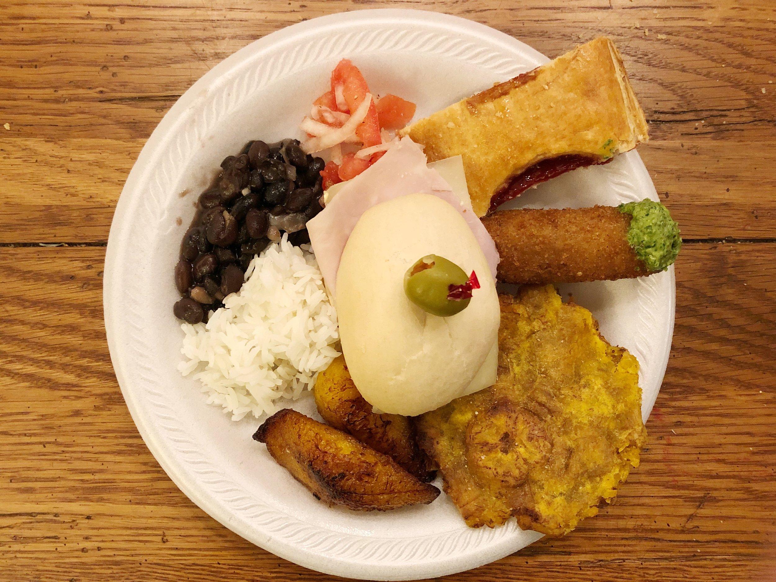 cuban-birthday-party-dinner-plate
