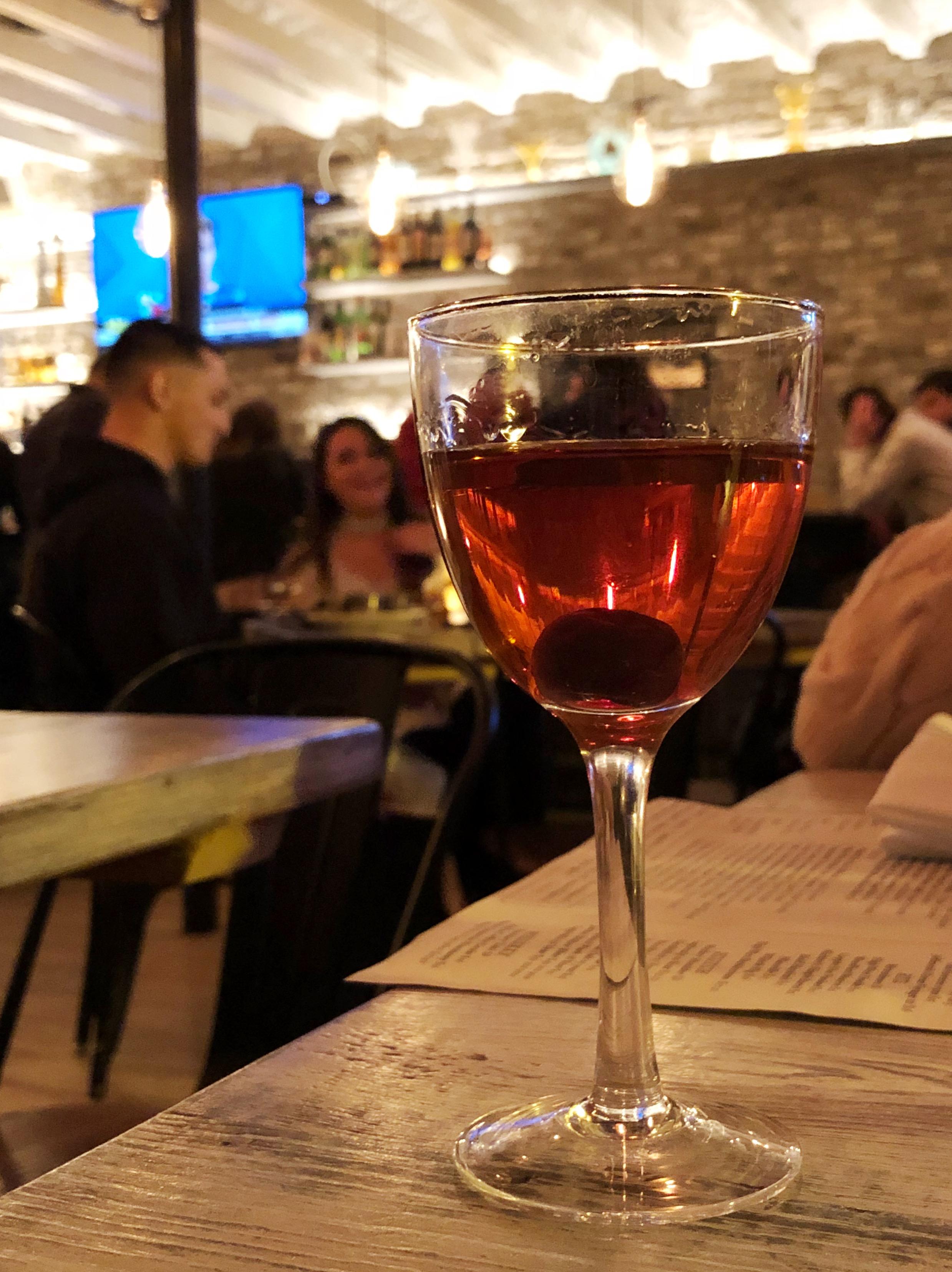 Barrel Aged Black Manhattan | Haberdish