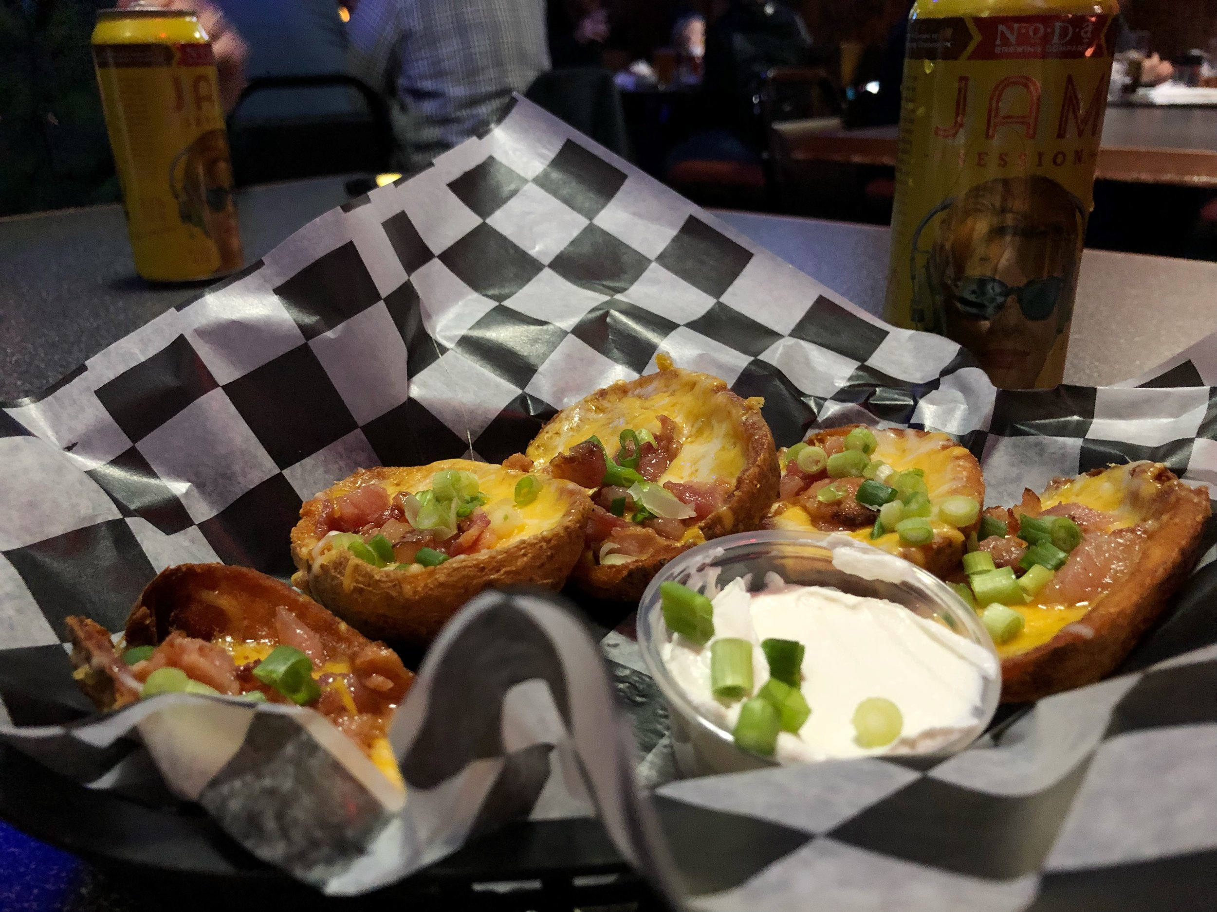 three-monkeys-harrisburg-nc-potato-skins