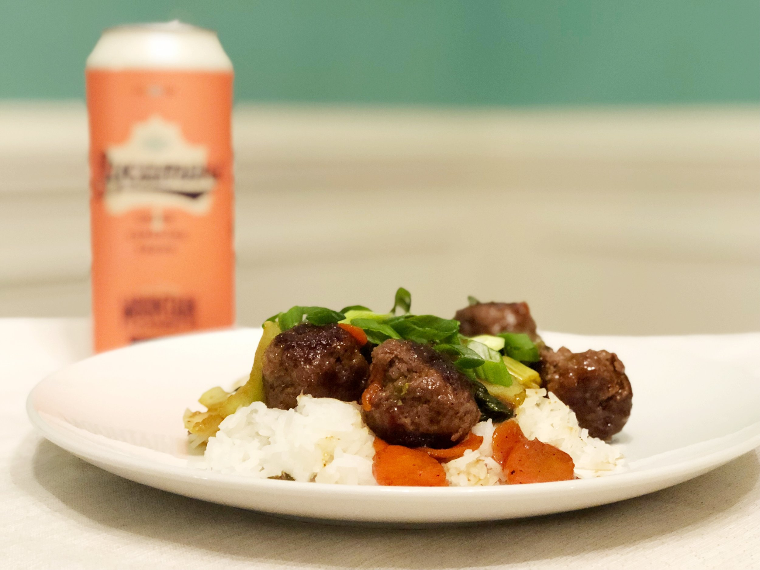 Orange Soy Meatballs + Sycamore Brewing Mountain Candy IPA