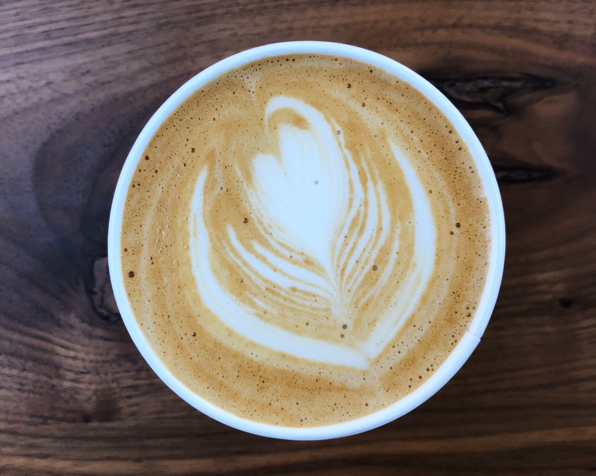 This vanilla sugar latte from Not Just Coffee is my favorite cup of jo in town.