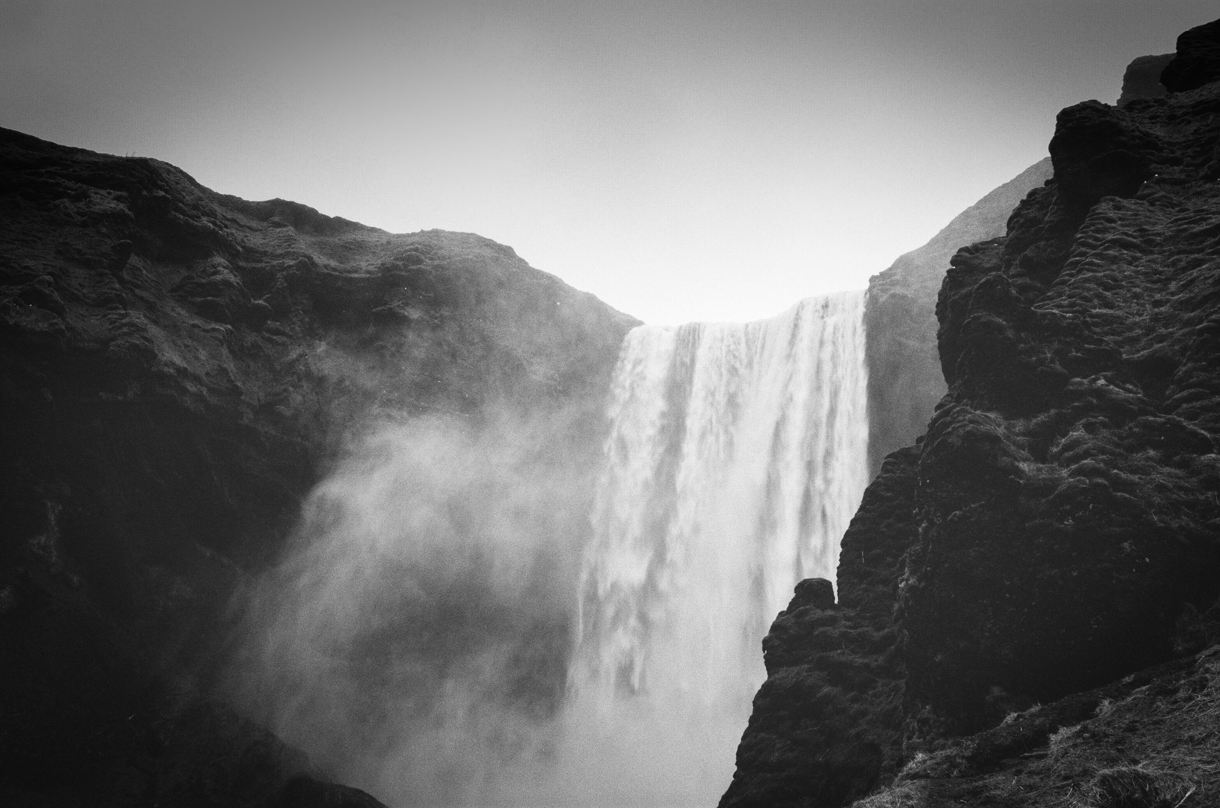 Skogafoss(Black and White Film)