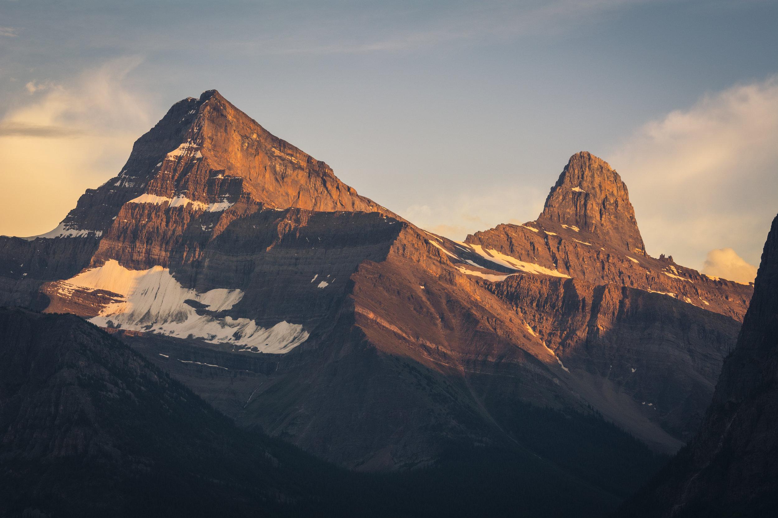 Mount Christie and Brussels Peak, Jasper National Park, Alberta, Canada
