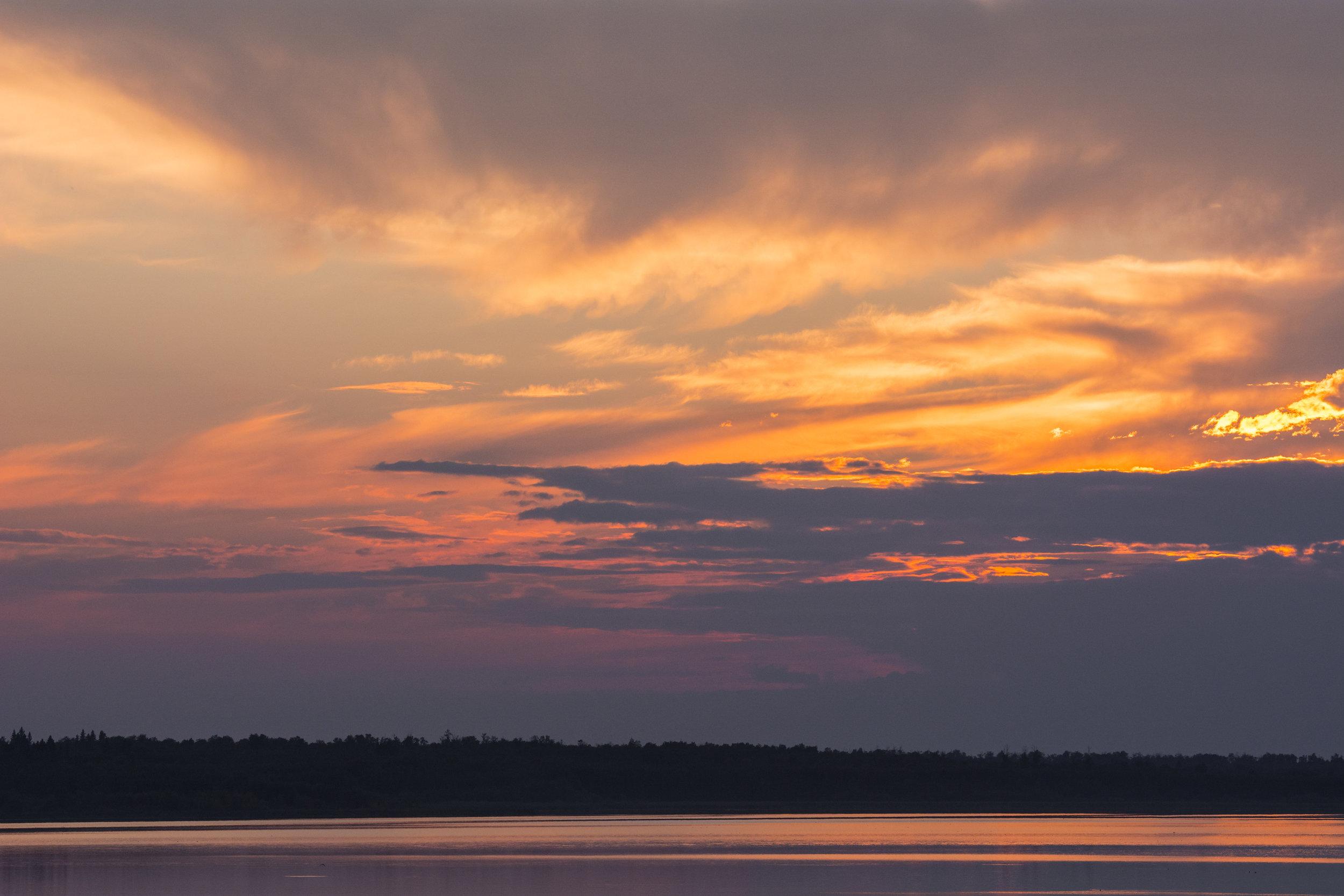 Sunset at Astotin Lake, Elk Island, National Park, Alberta, Canada