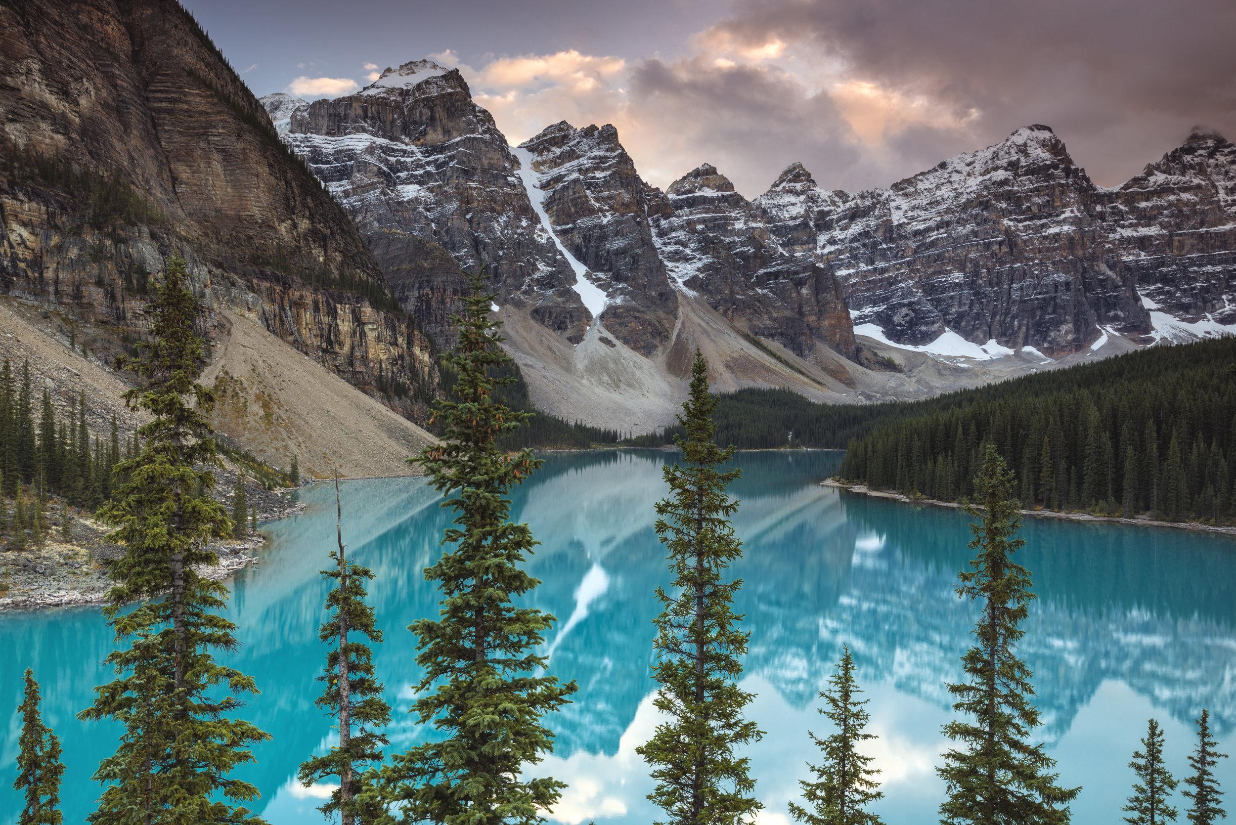 Moraine Lake Sunset, Banff National Park