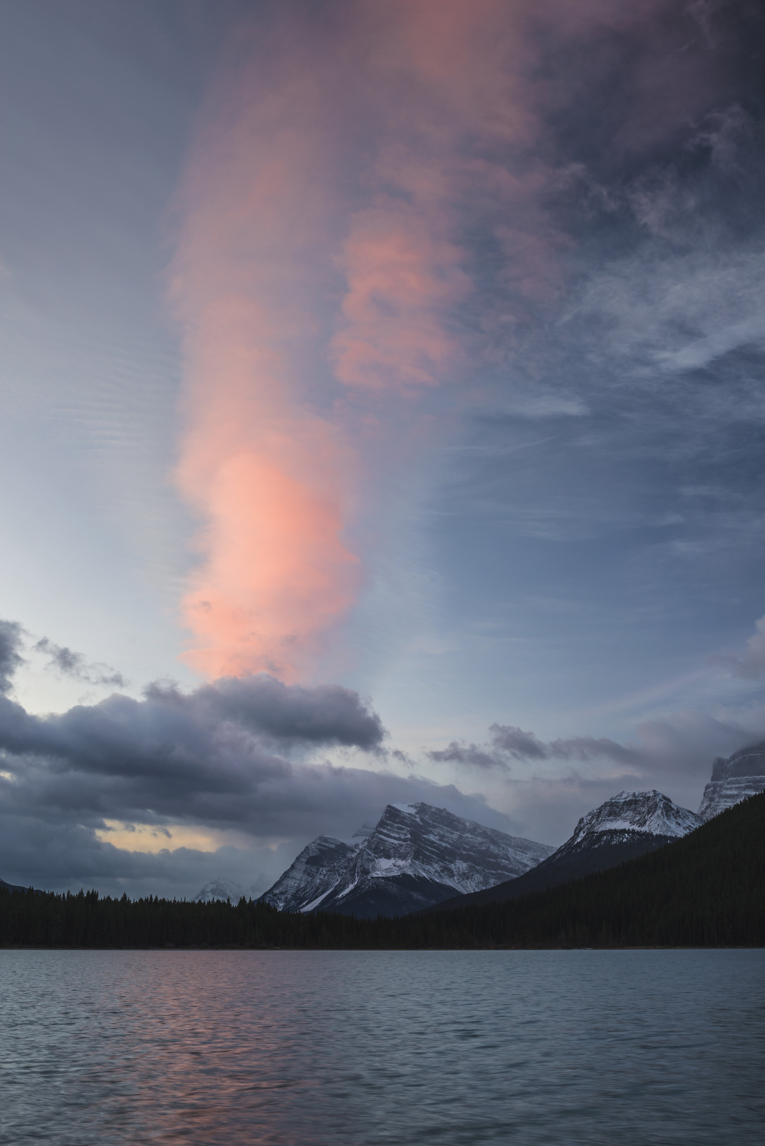 Sunrise Over Winter Mountains, Banff National Park