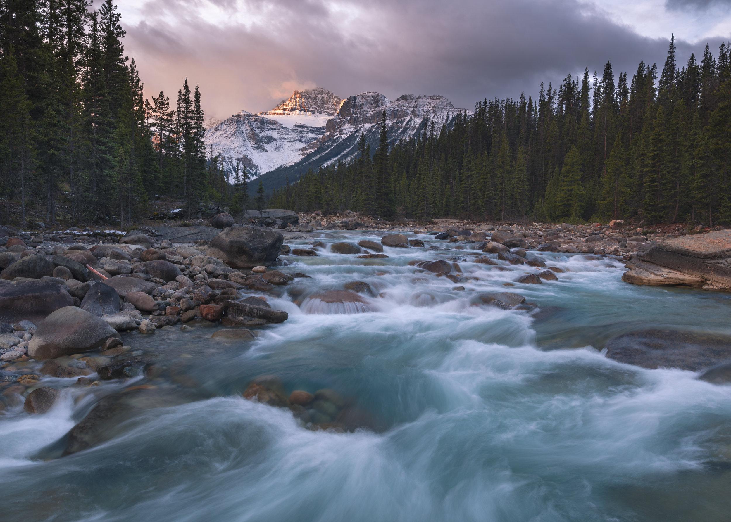 Mistaya Canyon Sunrise, Banff National Park