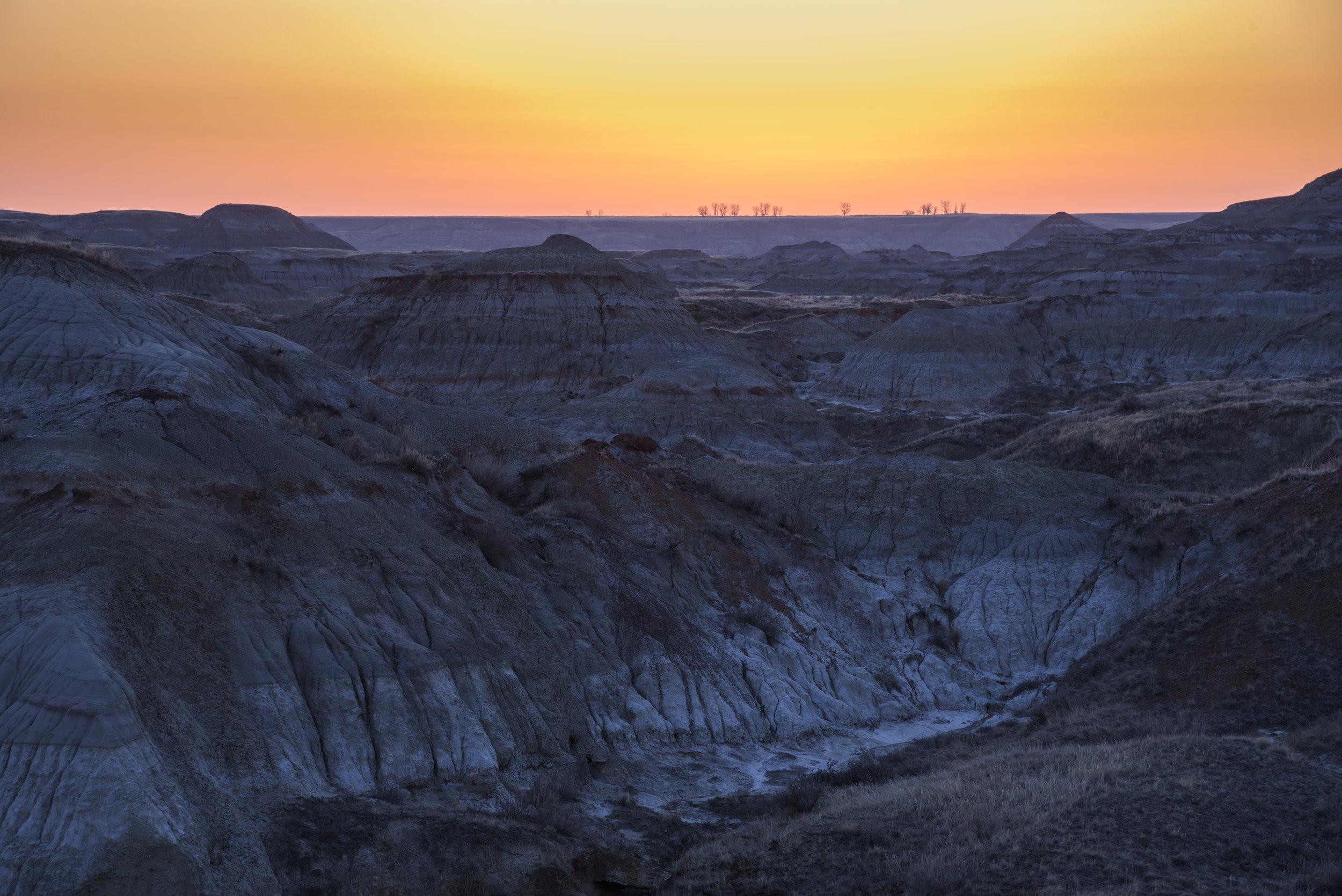 Sunrise over the Canadian Badlands, Dinosaur Provincial Park