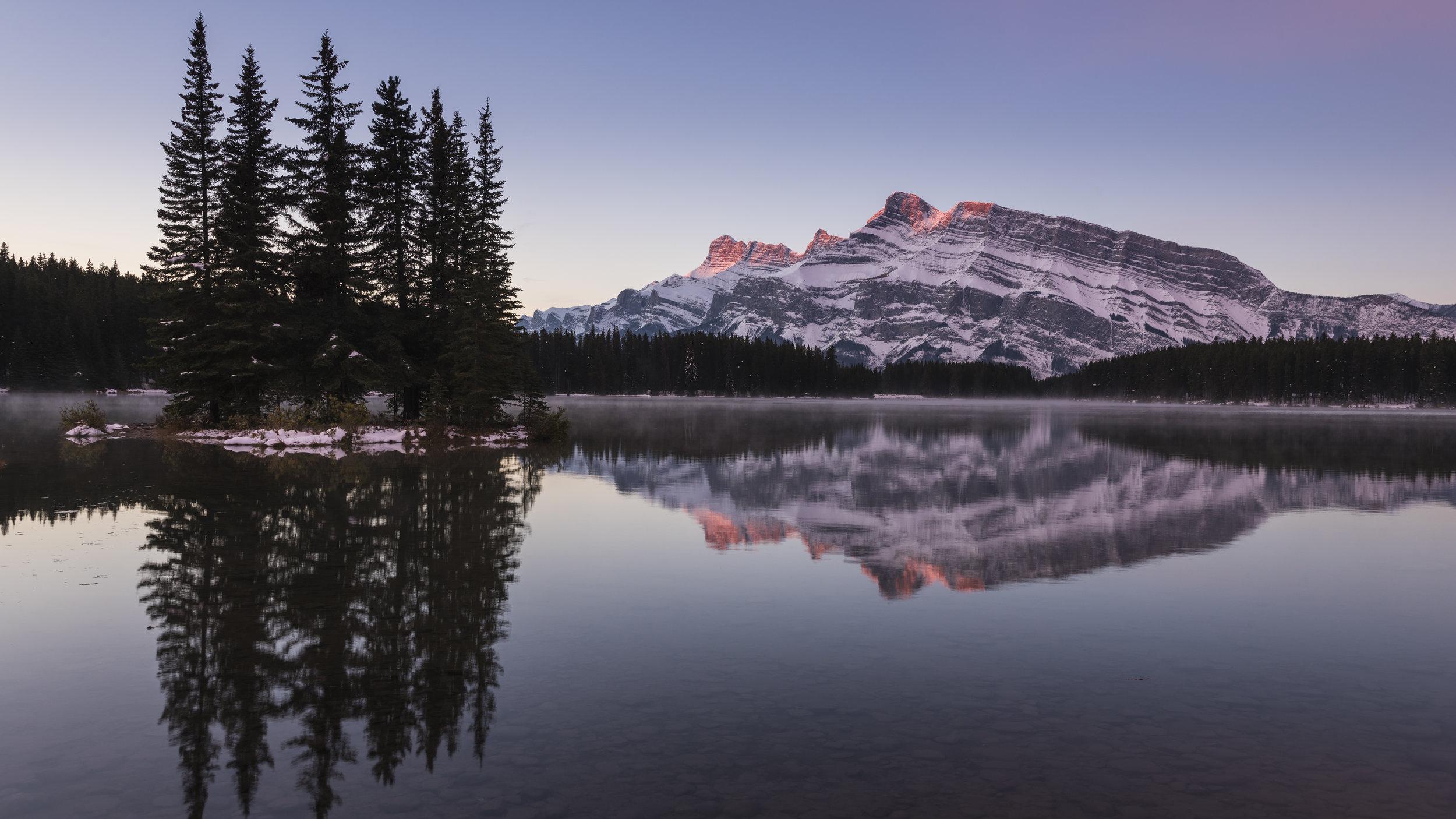 Two Jack Lake Sunrise, Banff