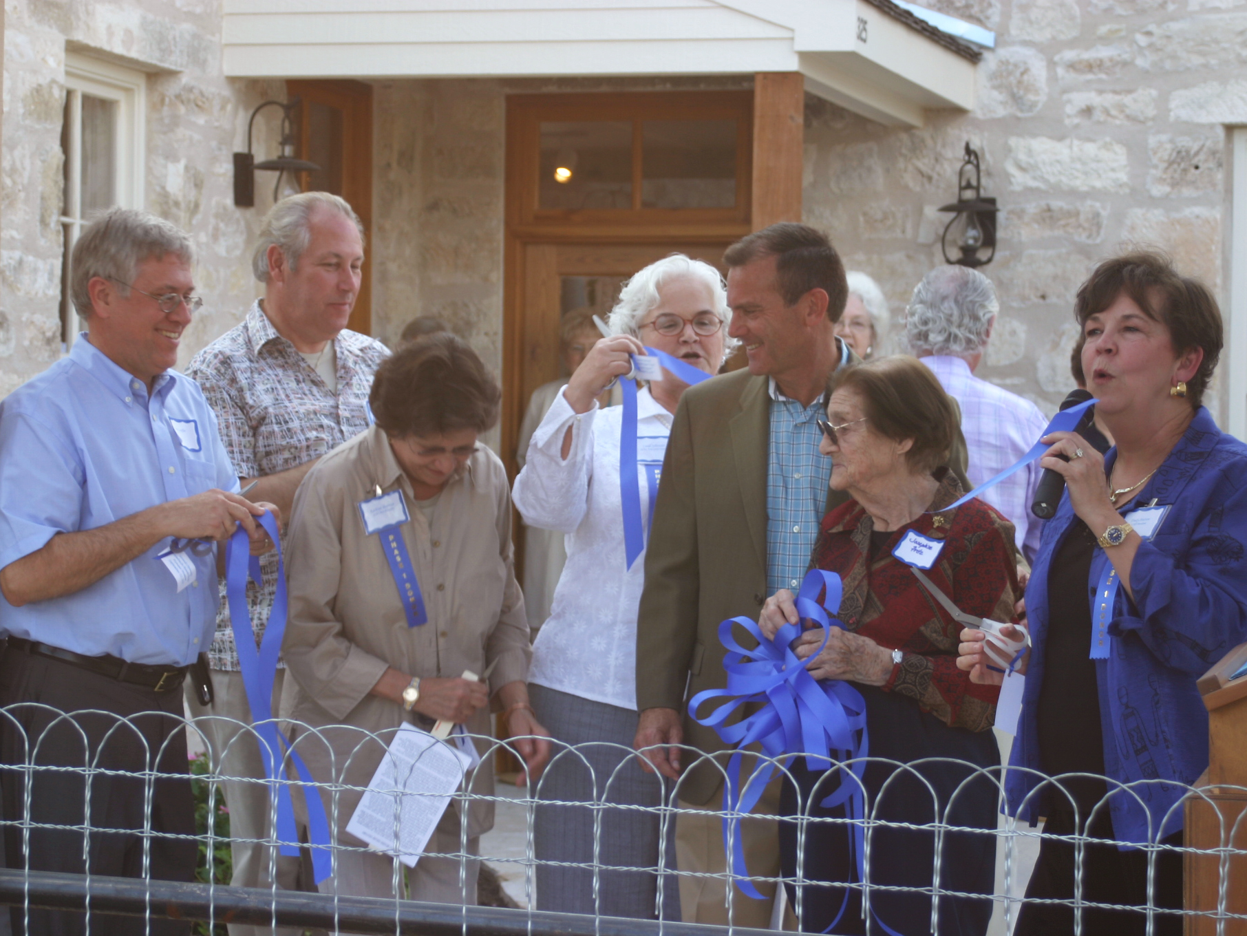 fredericksburg, TX:  the community celebrates the opening of the historic dambach-bessier house at the pioneer museum, a critical master plan objective.