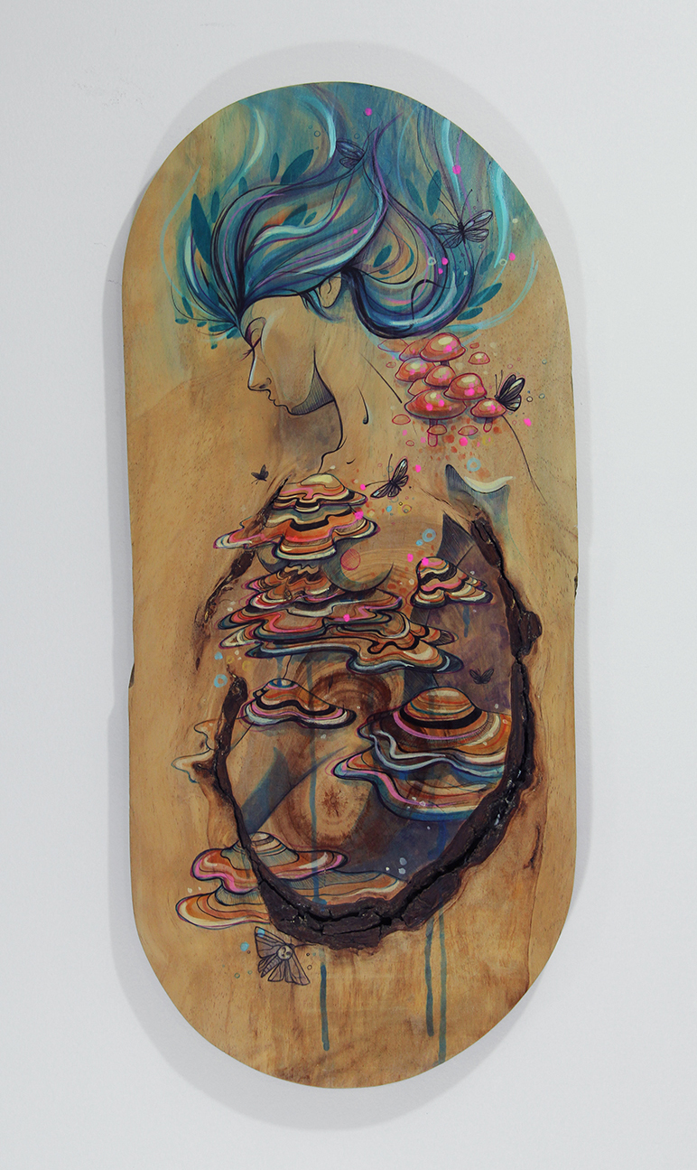 Mixed media on Wood.