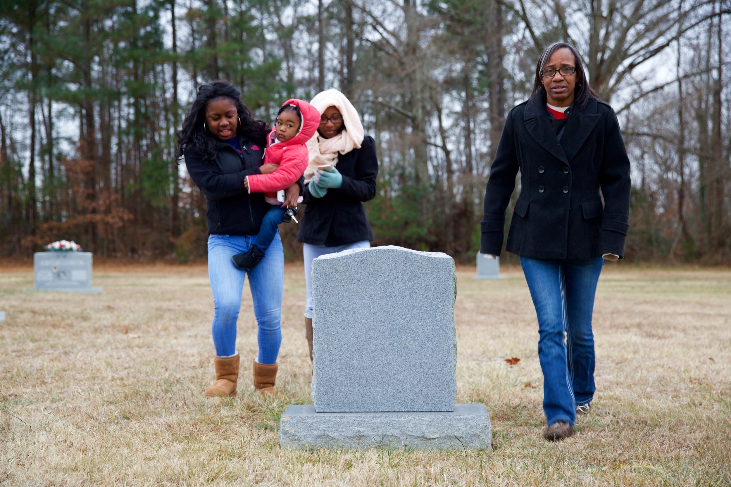 """""""The first thing I did was visit my sister's grave site.My release date was the anniversary of her passing. In jail, I realized that I'd never grieved for her. I was too caught up in my own problems.""""  Click the image to enlarge."""