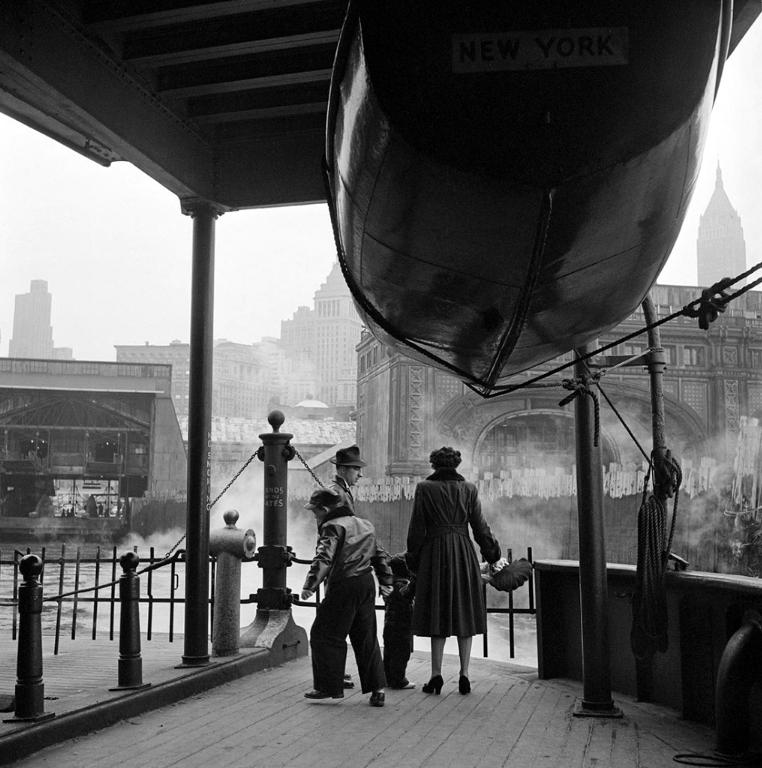 Терминал парома Стейтен-Айленд Ферри, 1955 год. Нью-Йорк