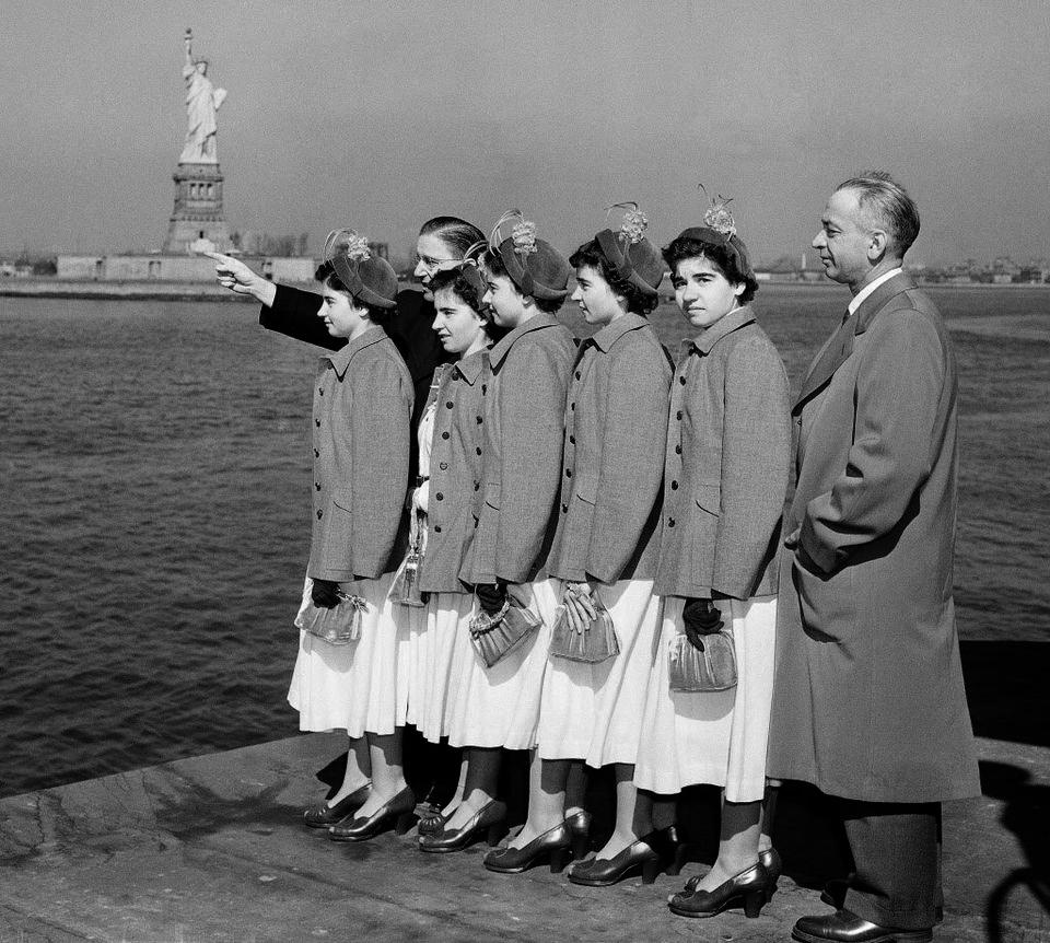 Обзорная экскурсия на пароме Стейтен-Айленд Ферри, 1950 год. Нью-Йорк
