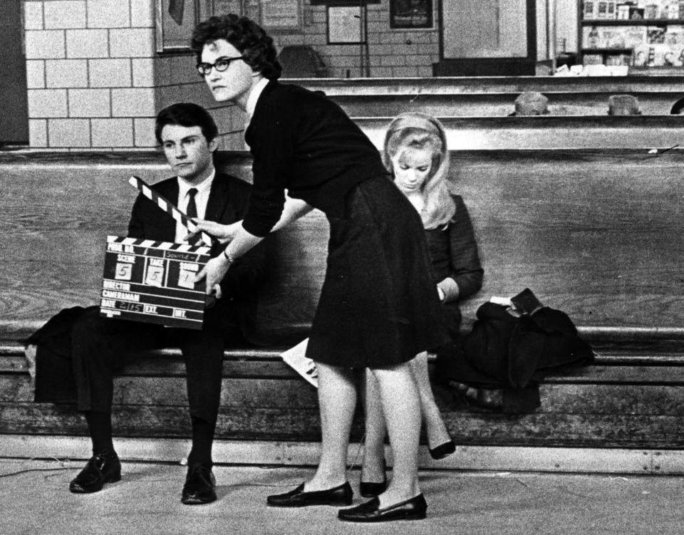 Съемки кинофильма в терминале парома Стейтен-Айленд Ферри, 1967 год. Нью-Йорк