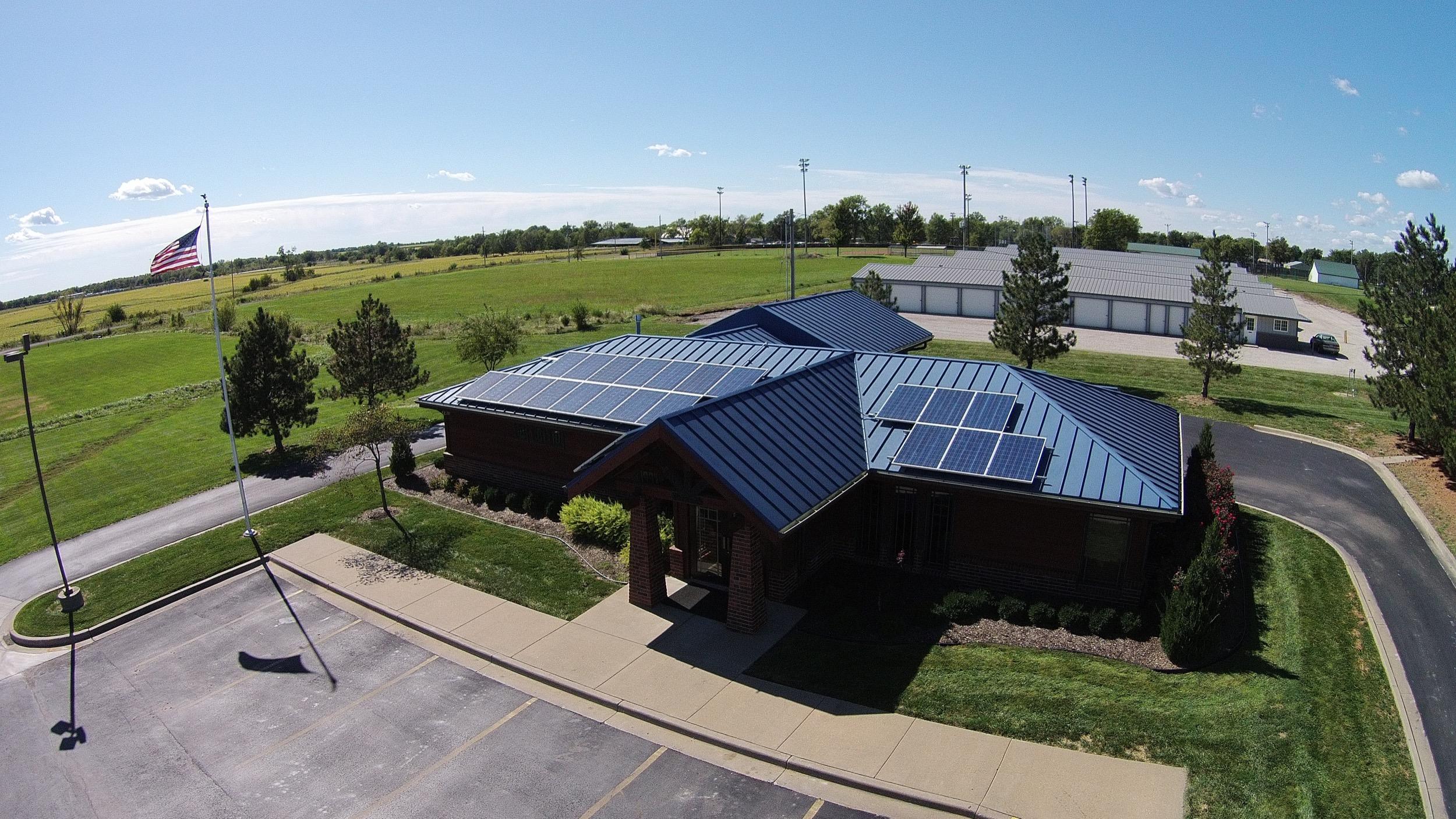 Wellsville Bank solar array © 2015 Cromwell Environmental