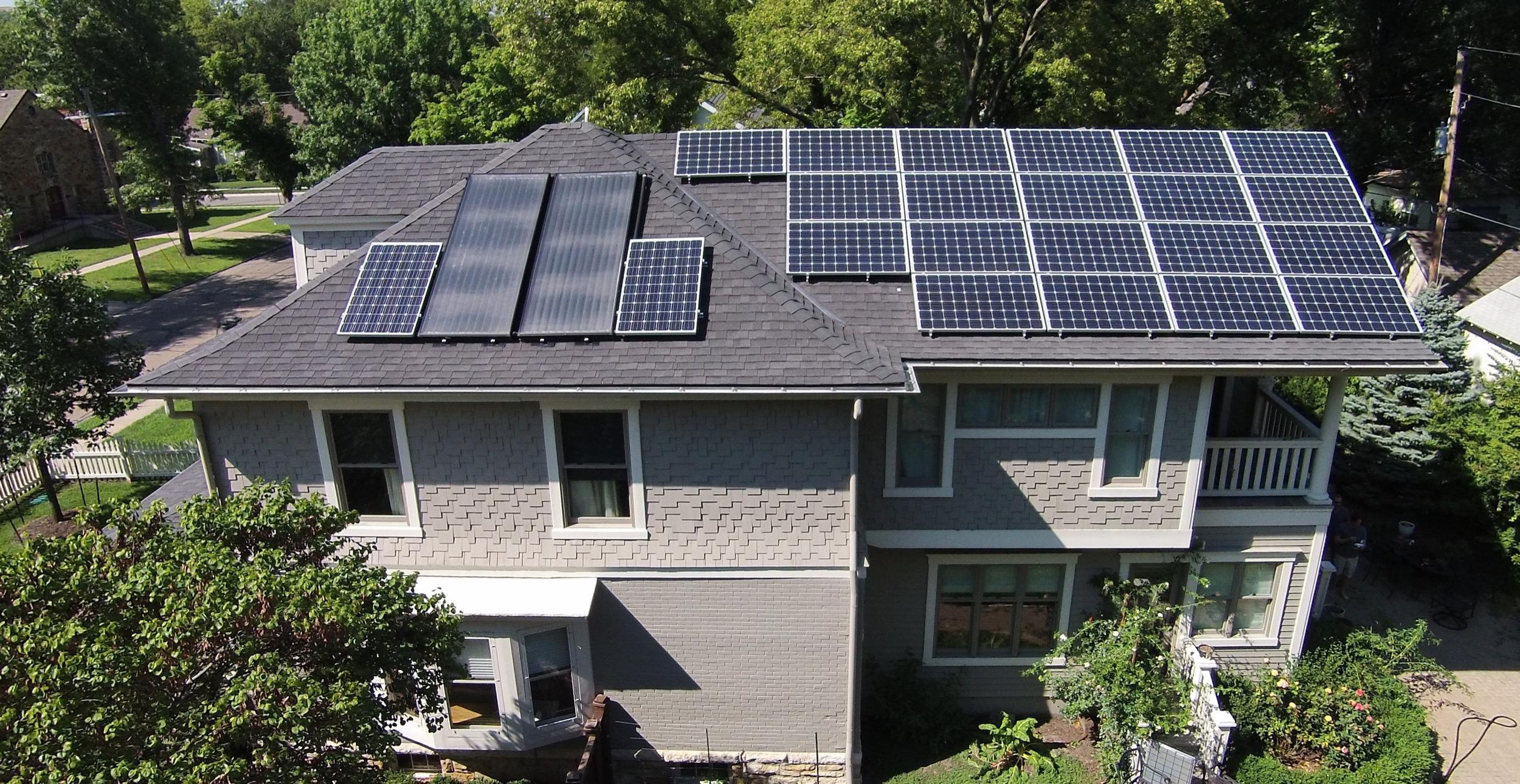 Residential solar array © 2015 Cromwell Environmental