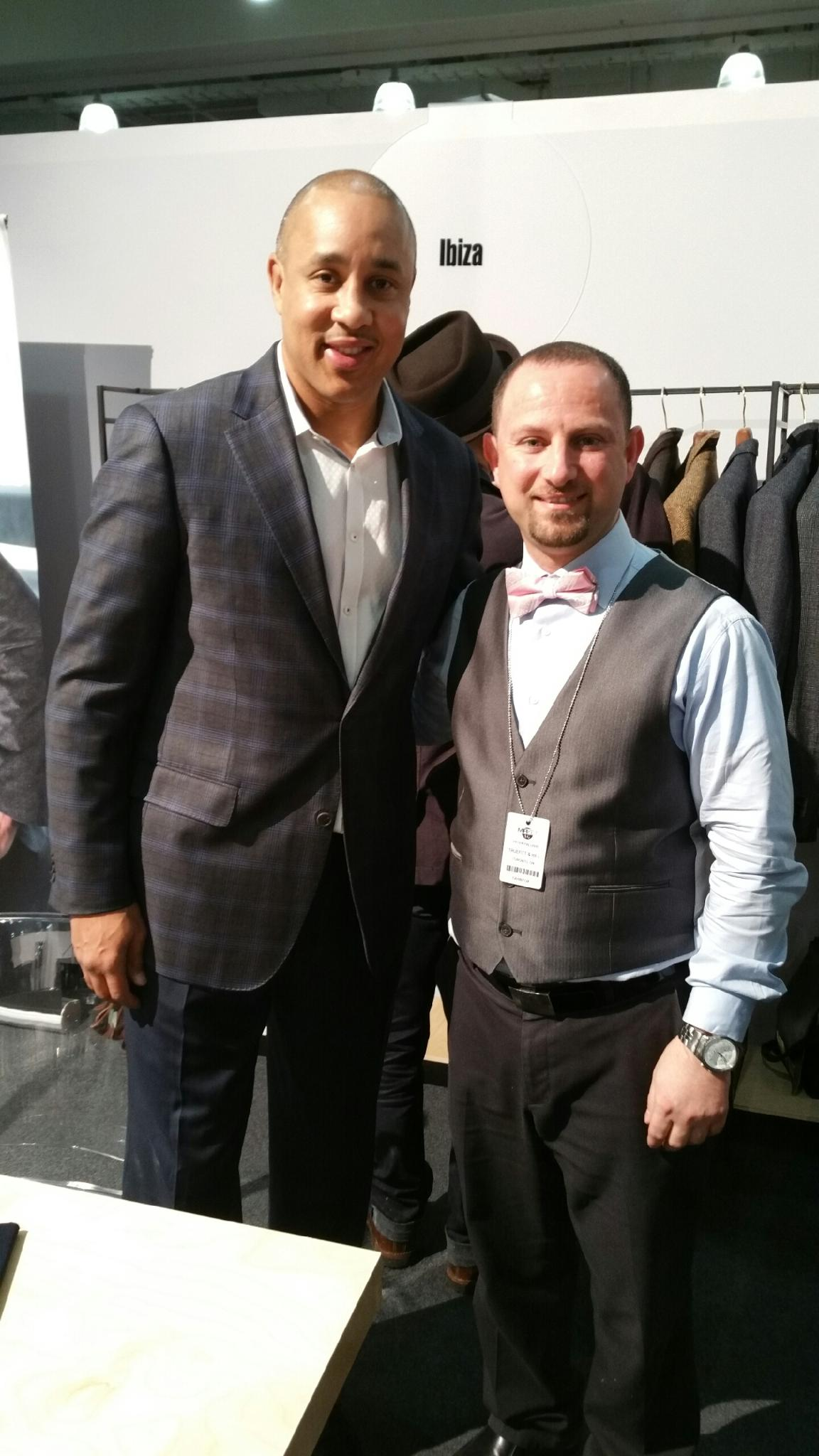 Master Barber Peter Palushi with Former Knicks Great John Starks