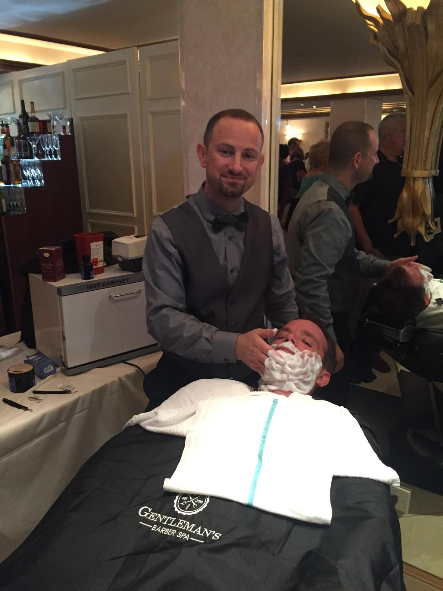 Founder of Gentleman's Barber Spa Performs the Hot Lather Shave at the Best of Westchester 2016 Awards Party