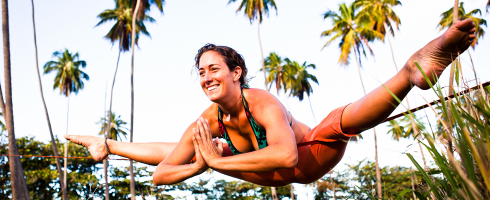 Adi has been a lifelong student of practicing yoga off the mat in all shapes and forms especially when it involves being outdoors. Traveling & teaching often times with her car as a home base, you can find her somewhere in the vicinity of an ocean, climb site, mountain or legit climbing tree as she works with students on and off the mat to discover a new sense of balance, strength and focus in whatever their form of practice might be. Her yoga classes are alignment based and draw from a background of practicing Vinyasa, Iyengar, Ashtanga, Anusara, Pilates and Thai Massage.