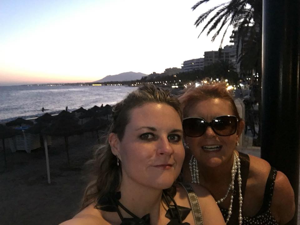 Me and my mammy in Marbella, July 2016