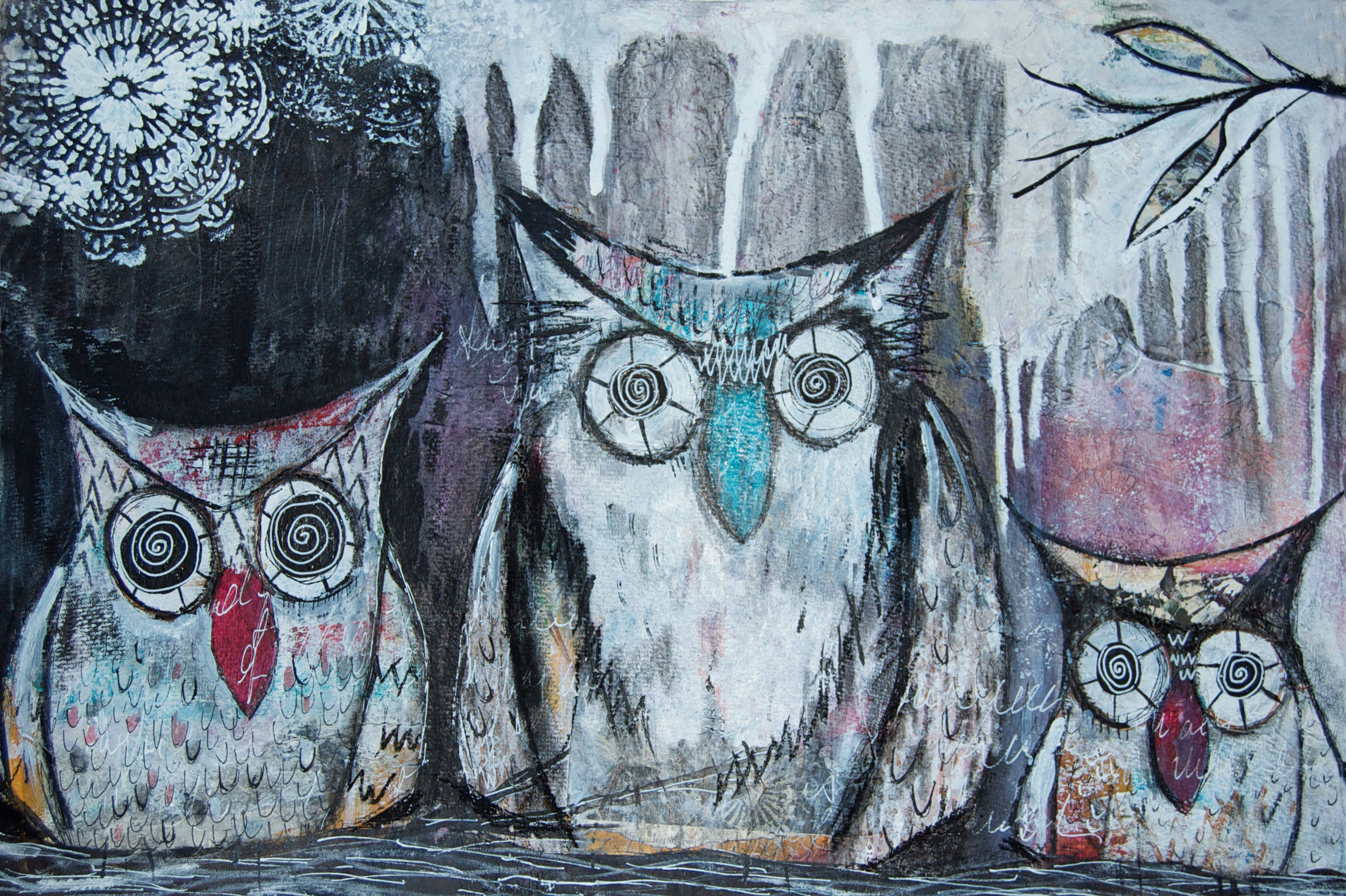 'Night Owls' print by Amanda | Available to purchase   here