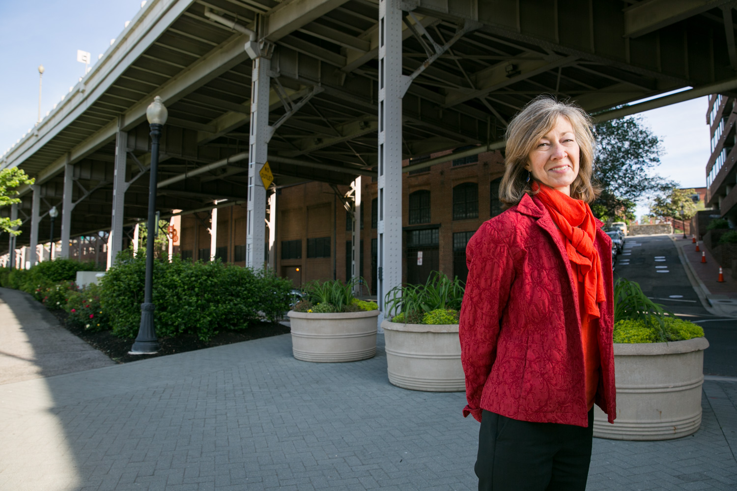On May 14, 2015, Anita van Breda poses for a portrait at the Georgetown Waterfront Park in Washington, D.C. (United States of America). Anita works to ensure WWF conservation and reconstruction efforts are applied to areas impacted by disaster.