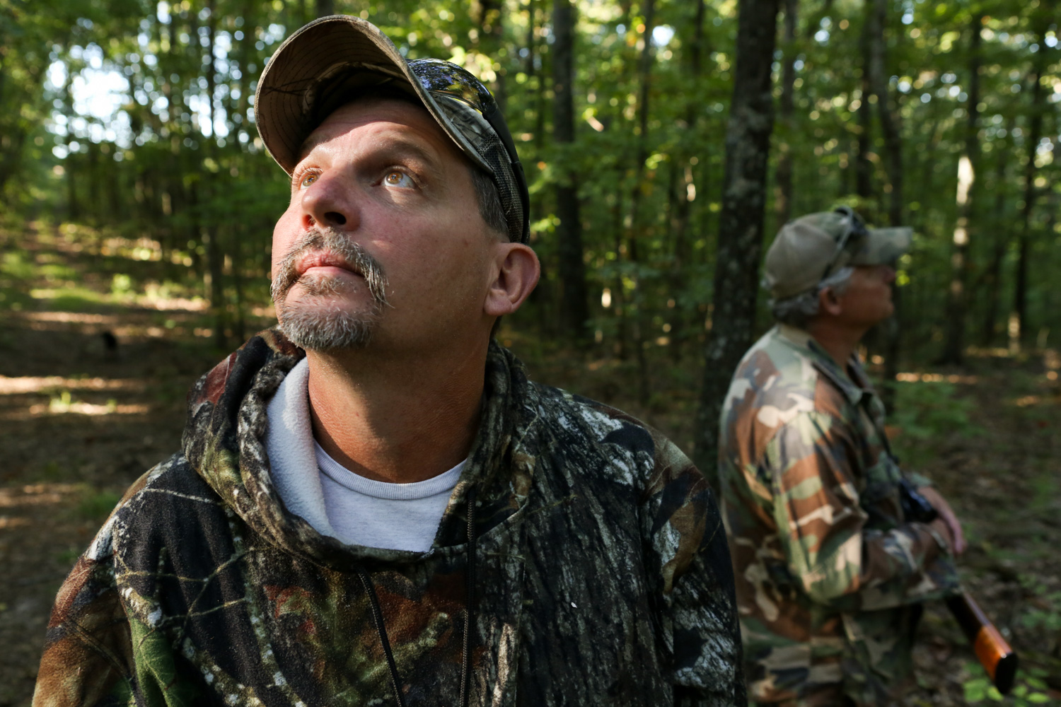 Joe Hoeckele (left) and Paul Hoeckele (right) hunt in the forest that spans their family's 600-acre farm. Avid hunters since childhood, they most often hunt for squirrel, rabbit and deer.