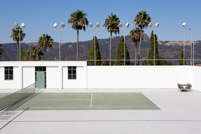 Hearst Castle, tennis court