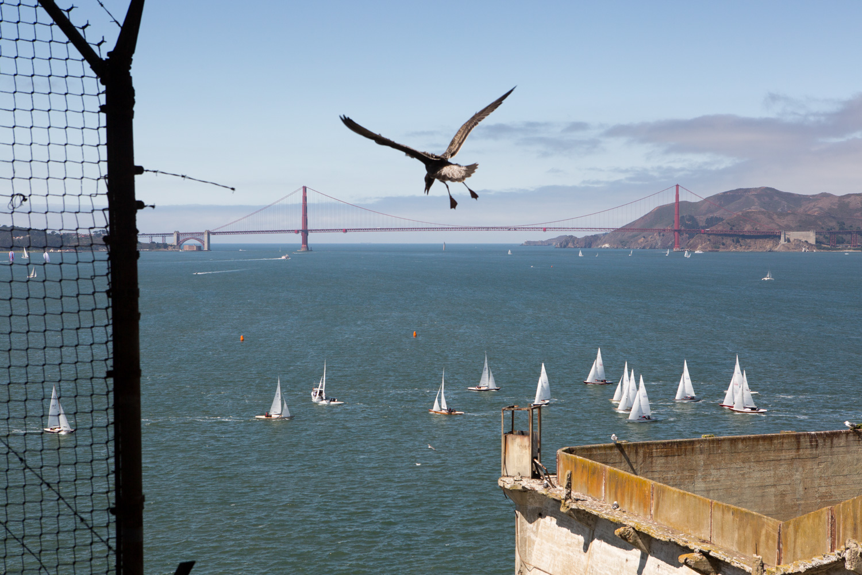 San Francisco Golden Gate Bridge from Alcatraz