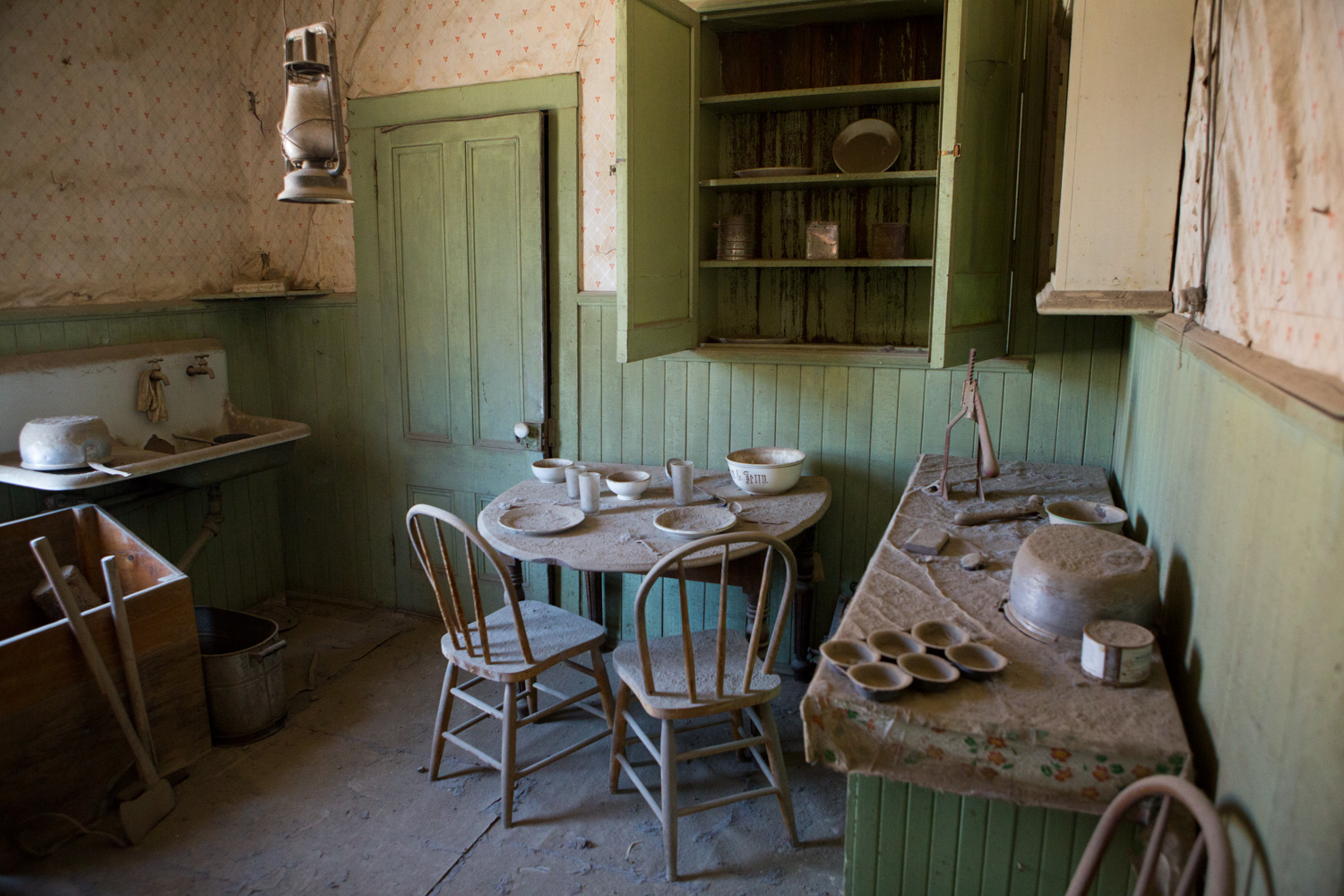 Bodie Ghost Town - a residence interior
