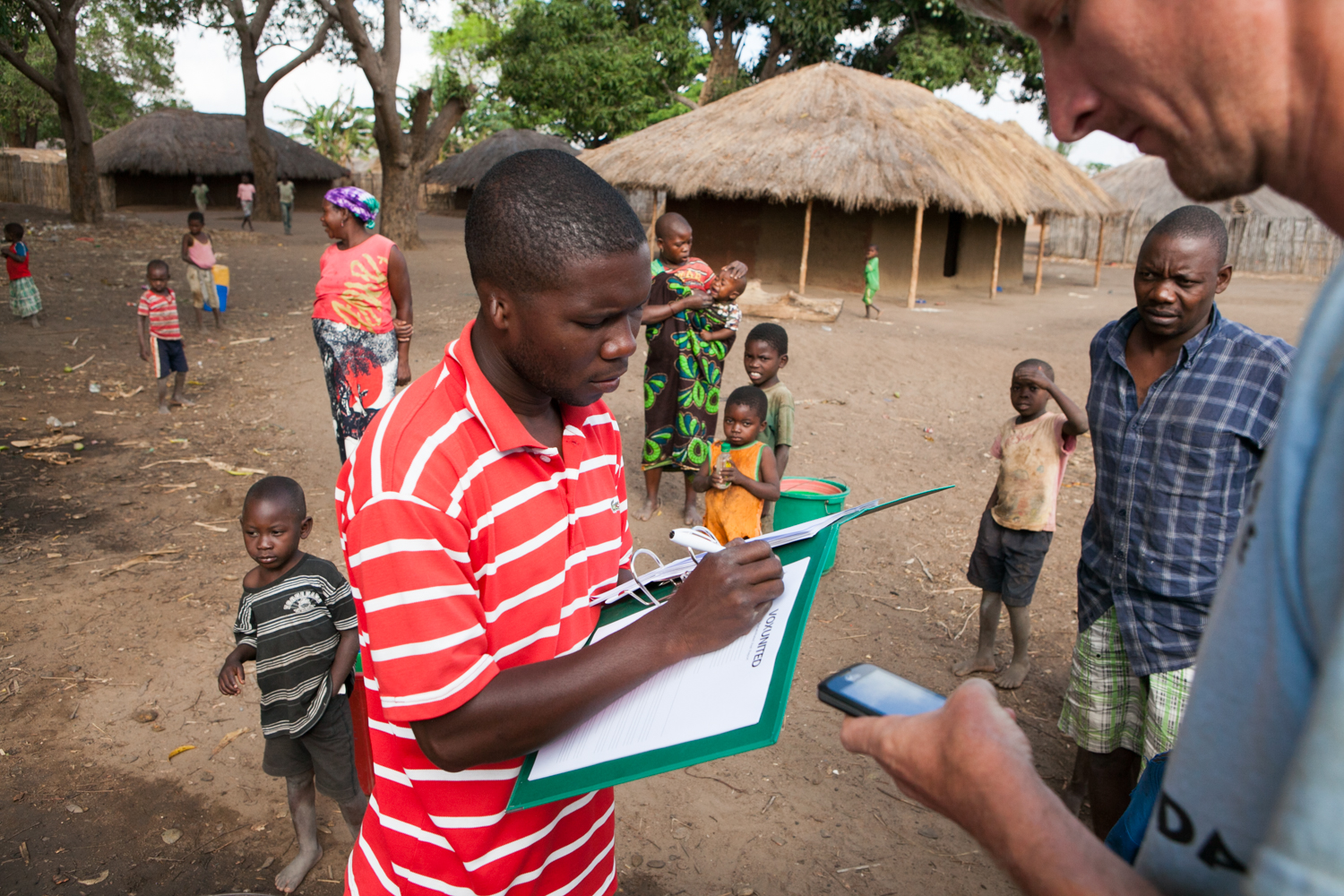 For each well, GPS coordinates are documented. In addition, a well report is generated to note the pump diagnosis, steps taken to repair the pump and the number of community member that the pump serves.