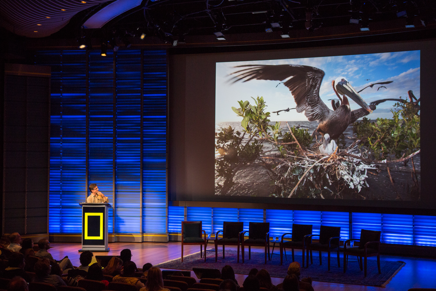 An artist talk at The National Geographic Society