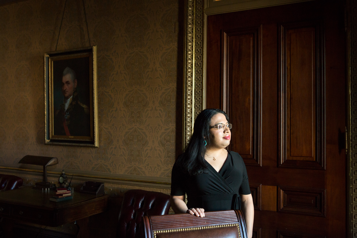 On January 6, 2017, Raffi Freedman-Gurspan poses for a portrait in a War Room Suite of the Executive Office Building in Washington, D.C. Raffi worked under President Obama as The White House's primary LGBT liaison.