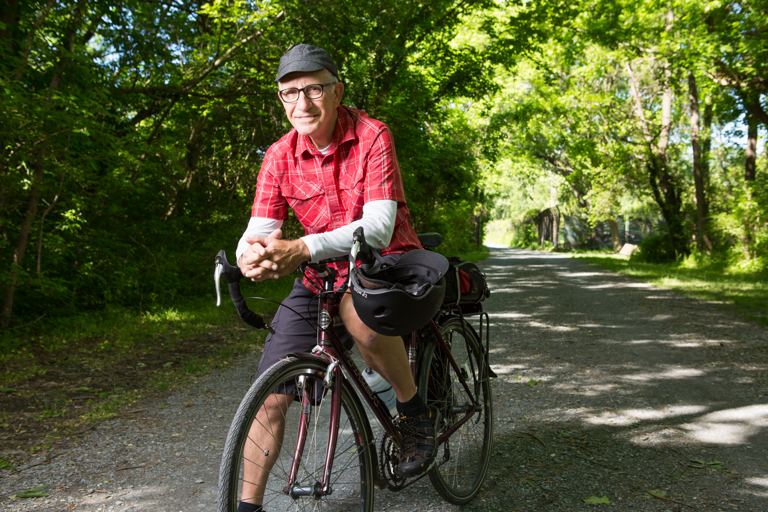 Wayne Clark, AARP, Eric Kruszewski, editorial photographer, Washington, D.C., Maryland, bicycle, bicycling, portraits