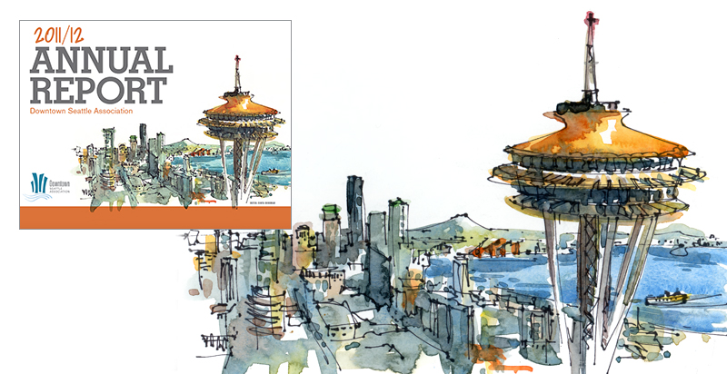 SKETCHES OF SEATTLE ,  DOWNTOWN SEATTLE ASSOCIATION , Annual Report