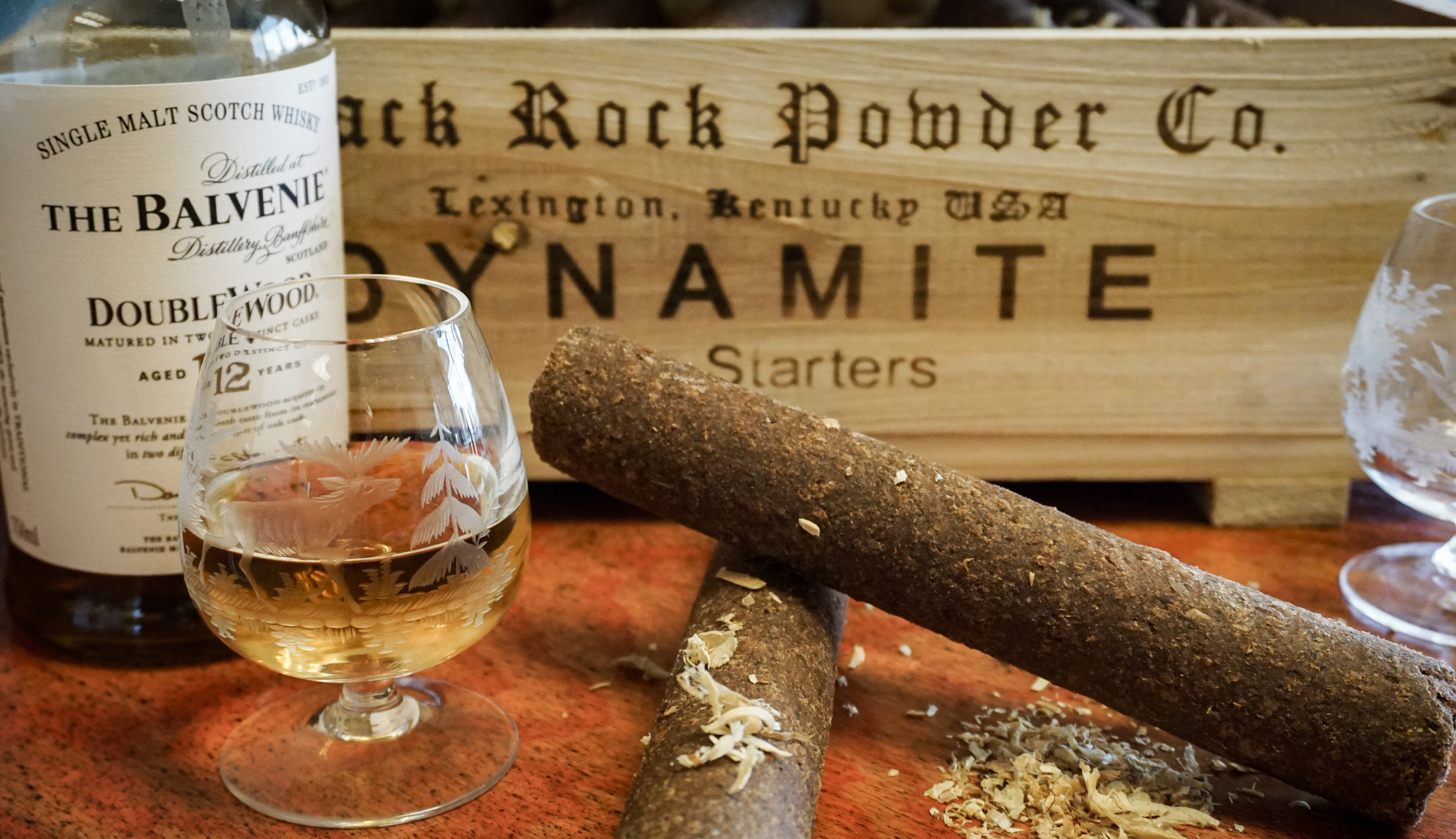 Full disclosure: This is not real dynamite. It is, however, real scotch.