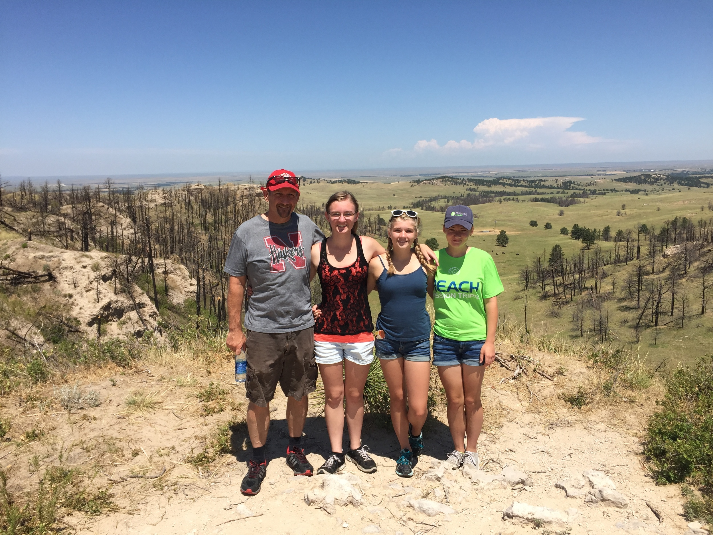 Hiking with the Hyde girls in Chadron, Nebraska