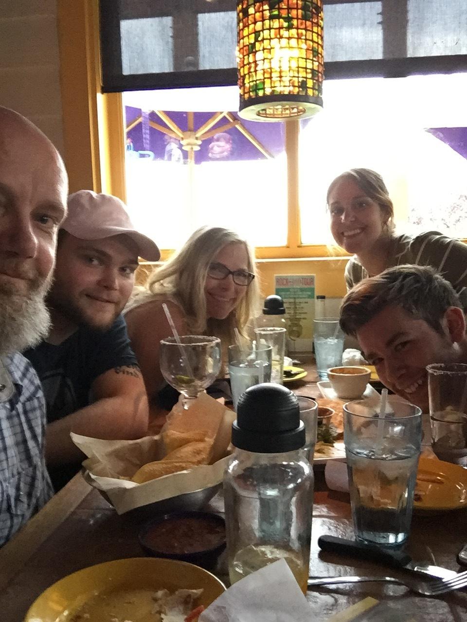 Celebrating over margaritas at Brenda's impromptu birthday bash