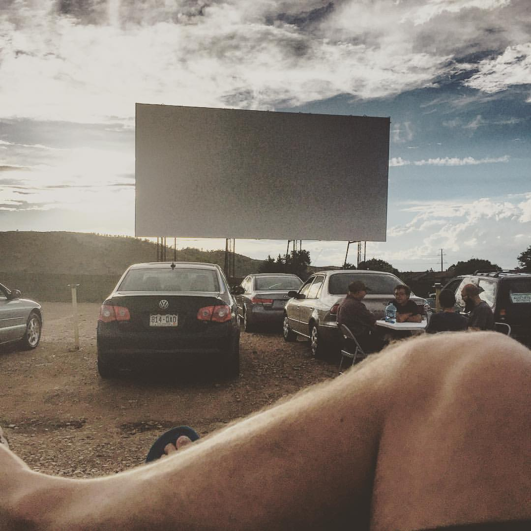 Saturday night at the Holiday Twin Drive-In