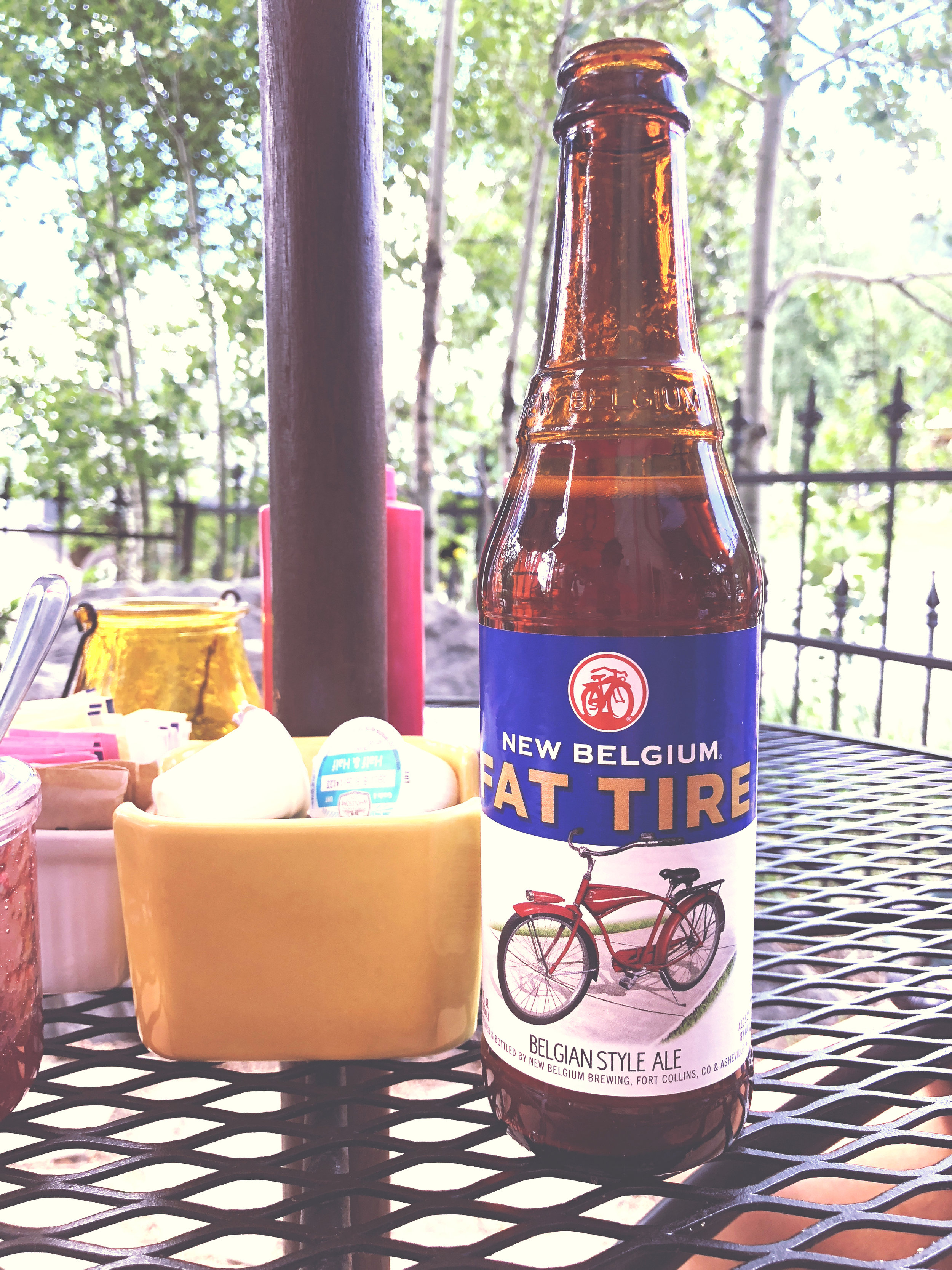 9.08PM - Fat Tire beer after a long, long drive. God bless us, everyone.
